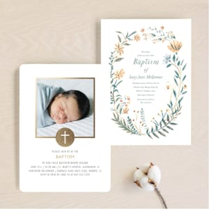 Milestones: Baptism and Christening Announcements
