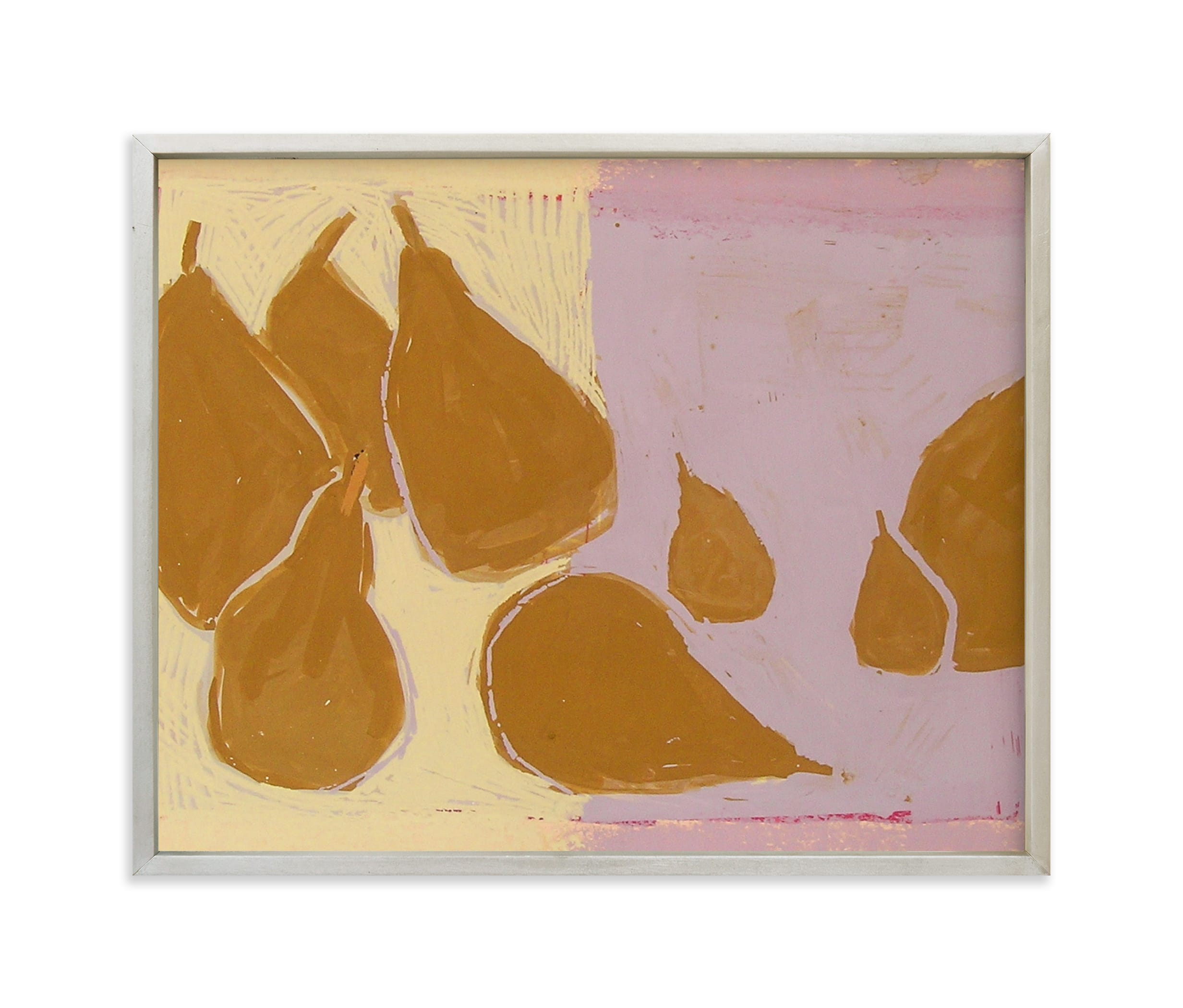 """Bosc pears"" - Limited Edition Art Print by Liz Innvar in beautiful frame options and a variety of sizes."