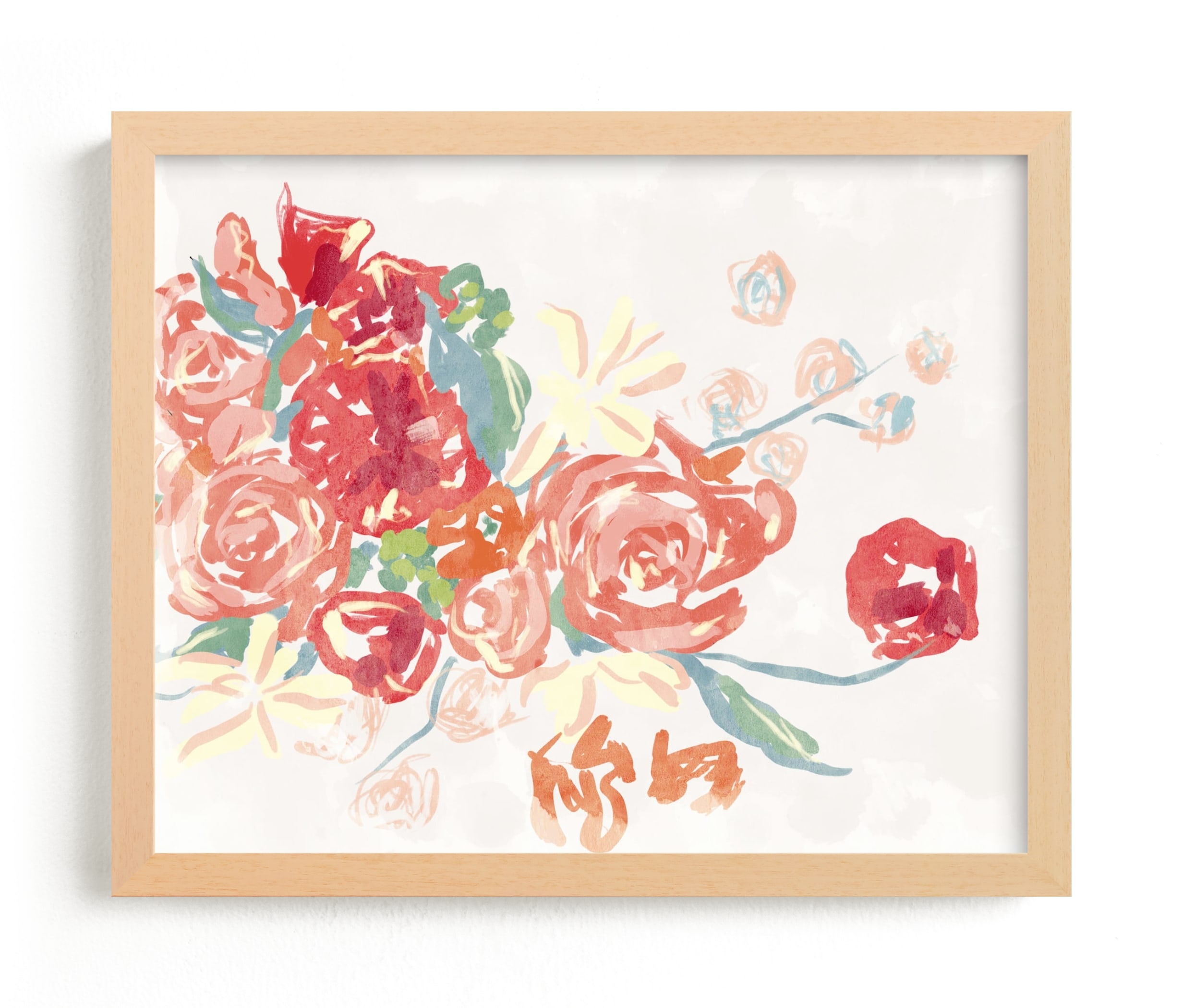 """""""Playful Poppy """" - Limited Edition Art Print by Lissabeth Anglin in beautiful frame options and a variety of sizes."""