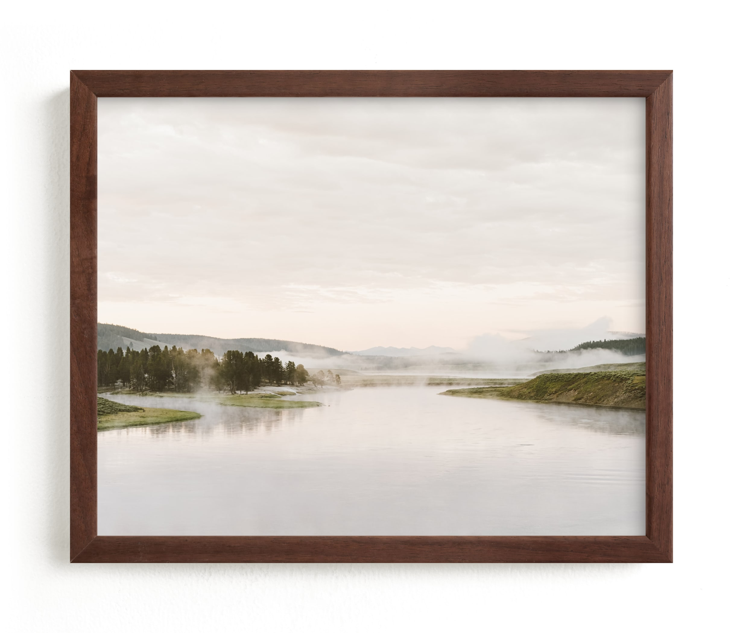 """Misty lake"" - Limited Edition Art Print by Kamala Nahas in beautiful frame options and a variety of sizes."