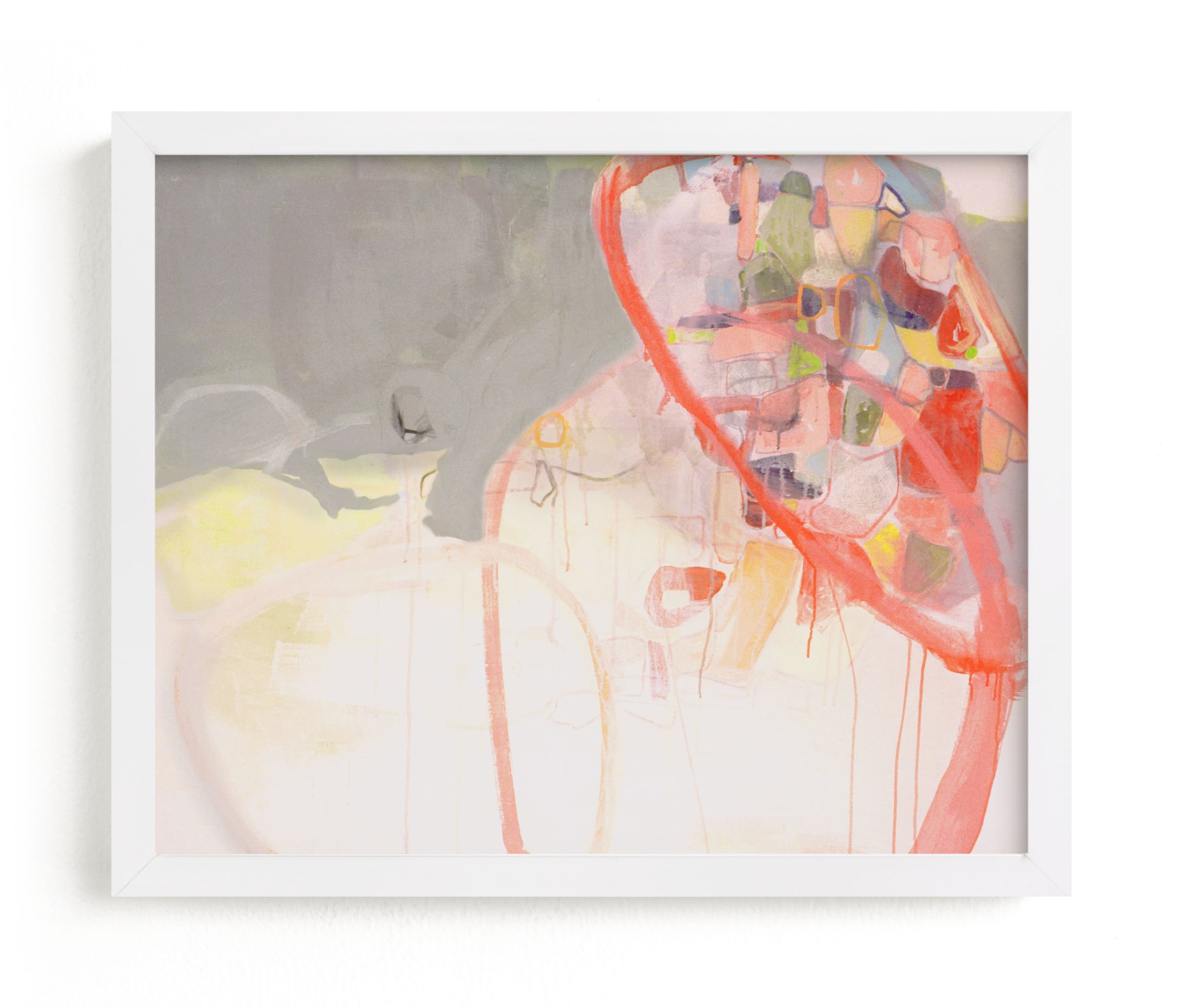 """""""Red Loops"""" - Limited Edition Art Print by Kirsta Benedetti in beautiful frame options and a variety of sizes."""
