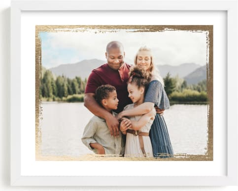 This is a gold foil stamped photo art by cambria called Rustic Frame.