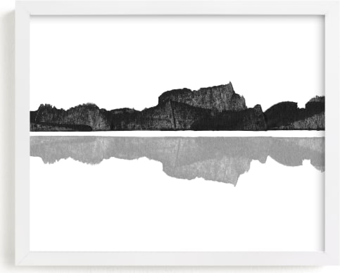 This is a white art by MinimalType called Mirror Image.
