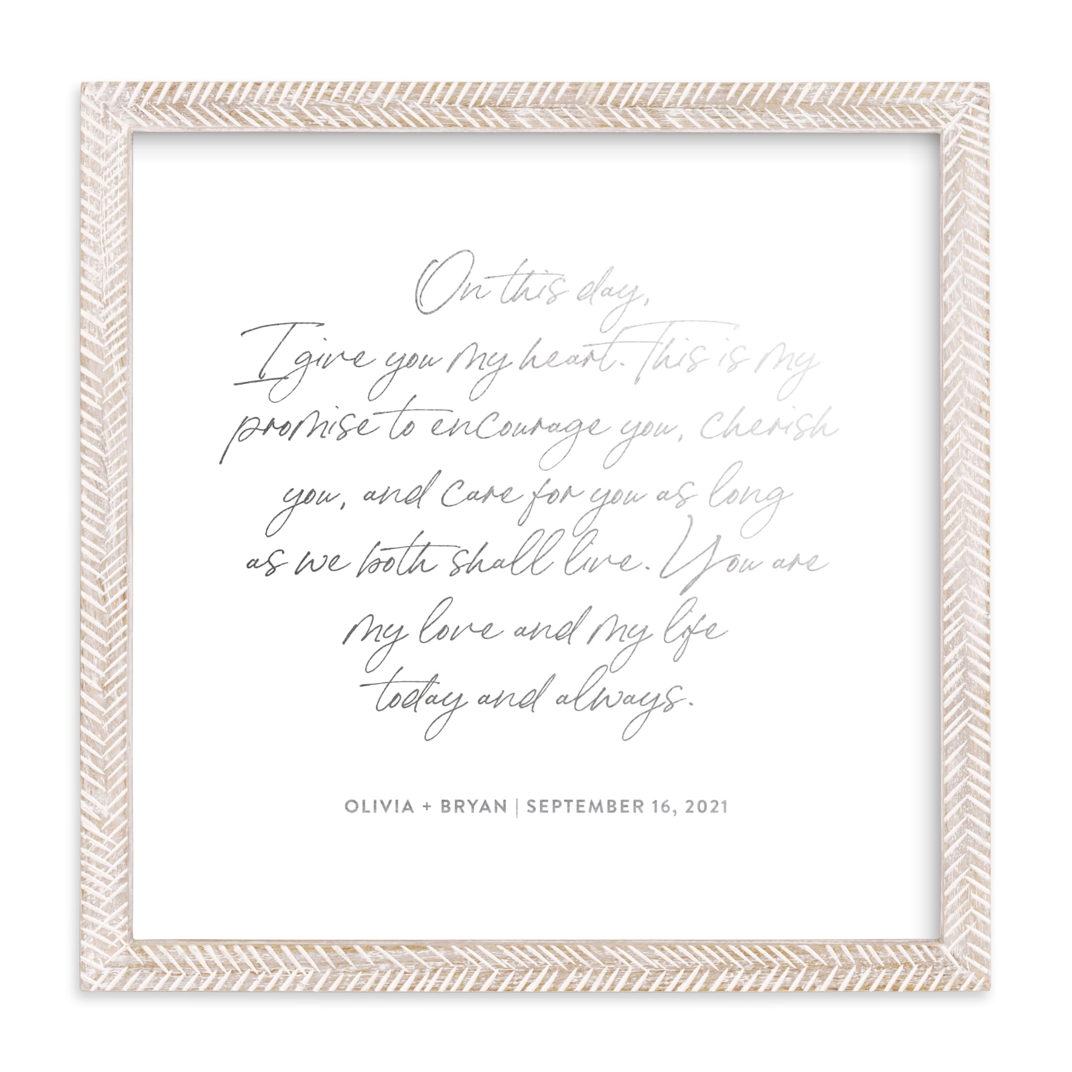 """Your Vows as a Foil Art Print"" - Drawn Foil Art by Minted in beautiful frame options and a variety of sizes."