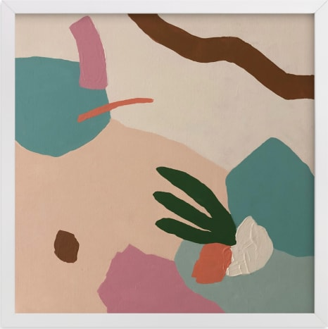 This is a pink art by FERNANDA MARTINEZ called Ground.