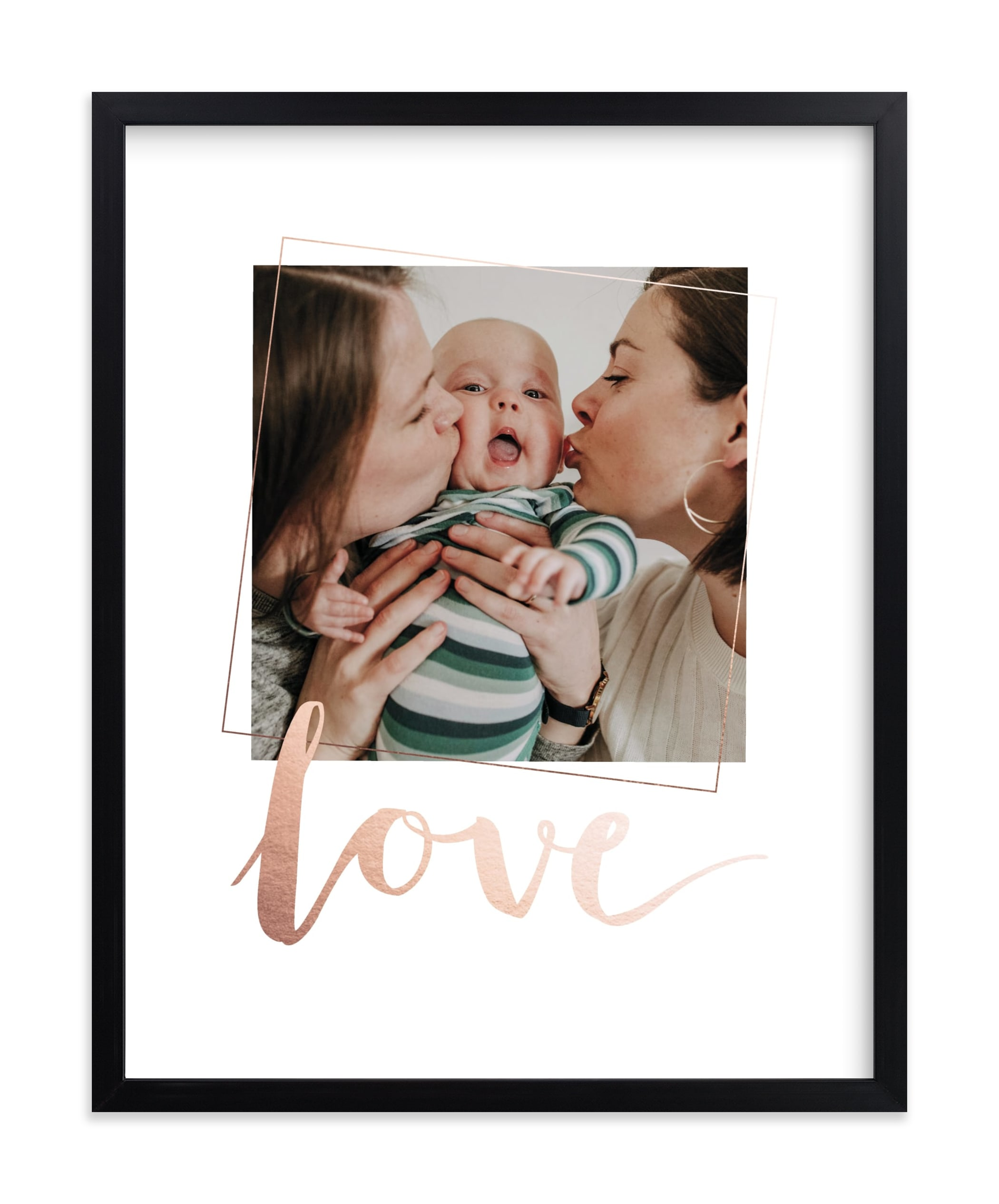 """""""Love You, Love"""" - Foil Pressed Photo Art Print by Anelle Mostert in beautiful frame options and a variety of sizes."""