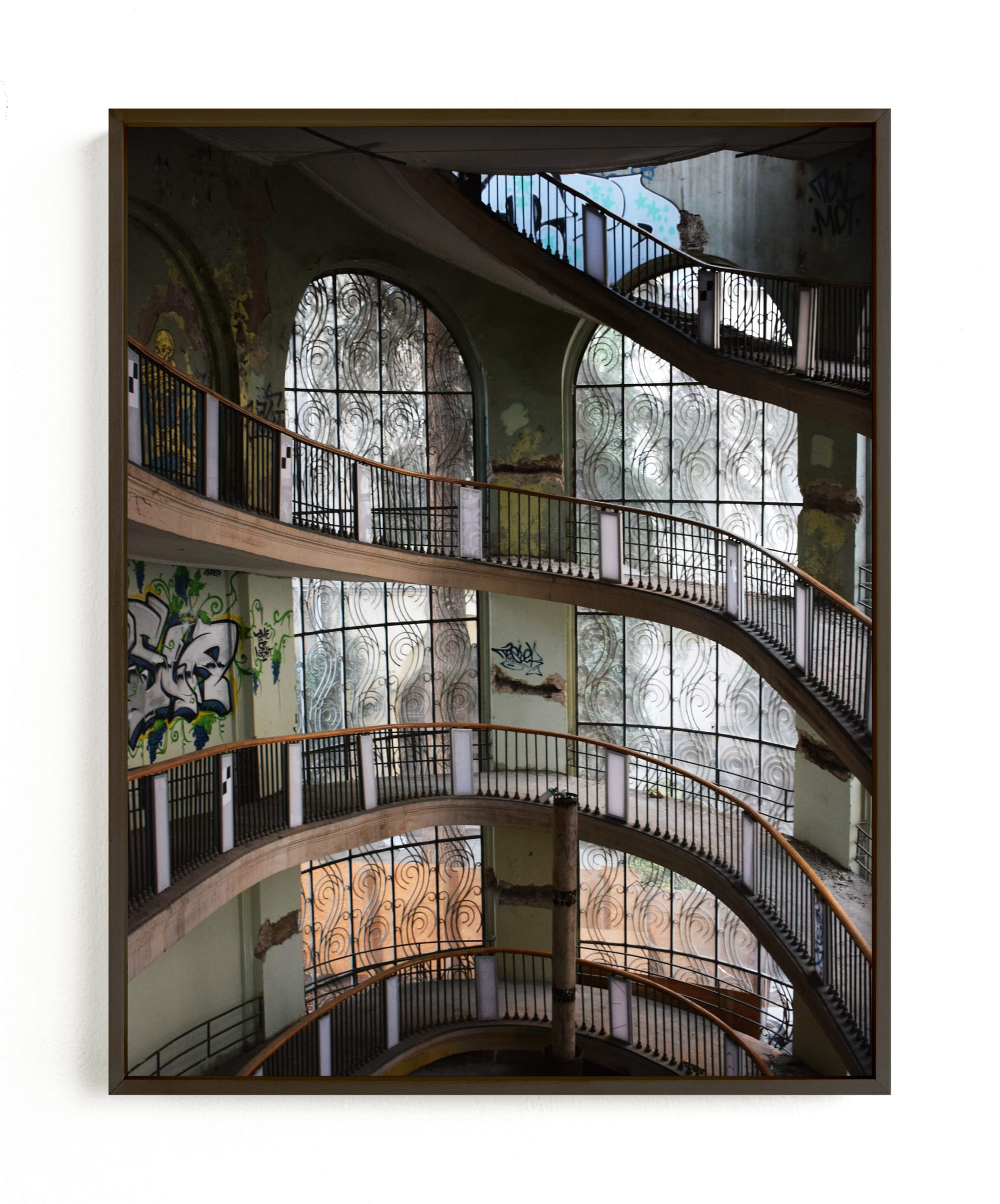 """""""Abandoned architectural beauty"""" - Limited Edition Art Print by Greta Staknyte in beautiful frame options and a variety of sizes."""