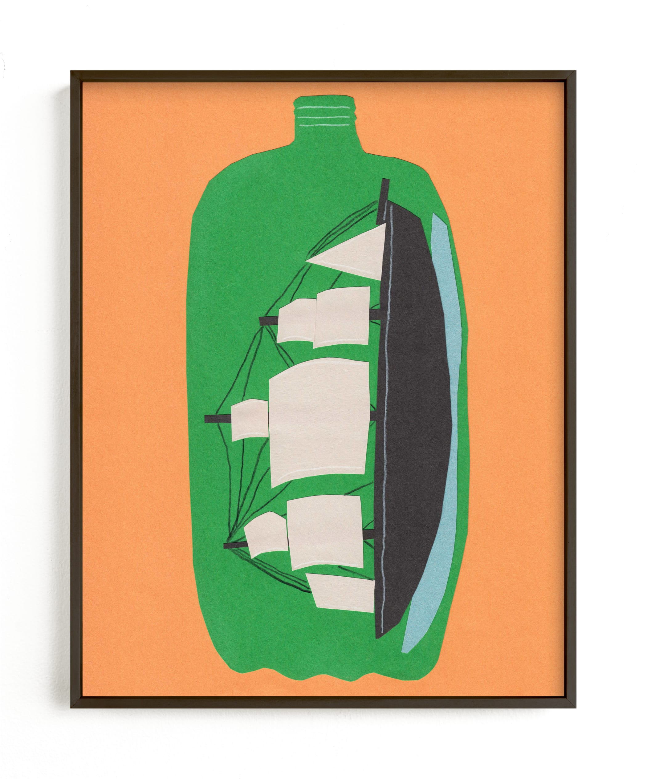 """Two Liter Ship"" - Limited Edition Art Print by Elliot Stokes in beautiful frame options and a variety of sizes."