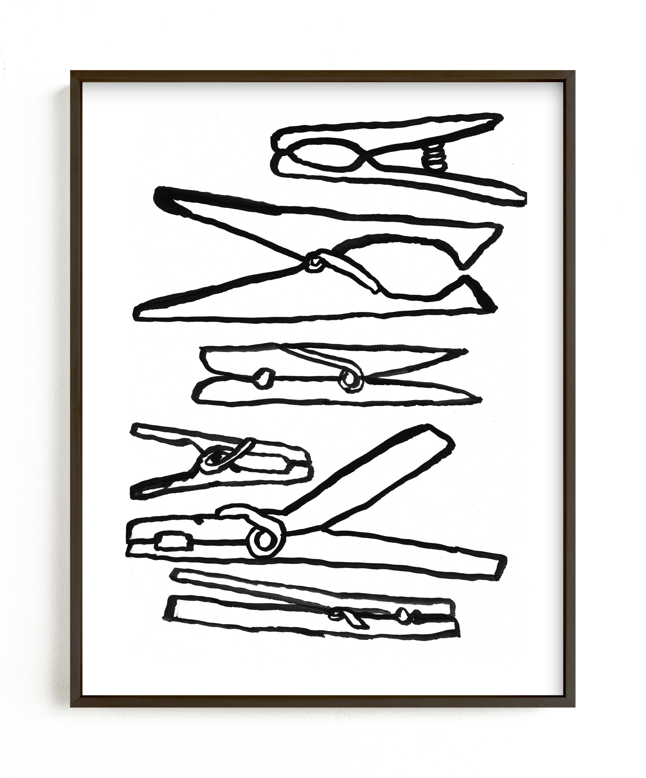 """""""Clothespins 2"""" - Limited Edition Art Print by Elliot Stokes in beautiful frame options and a variety of sizes."""