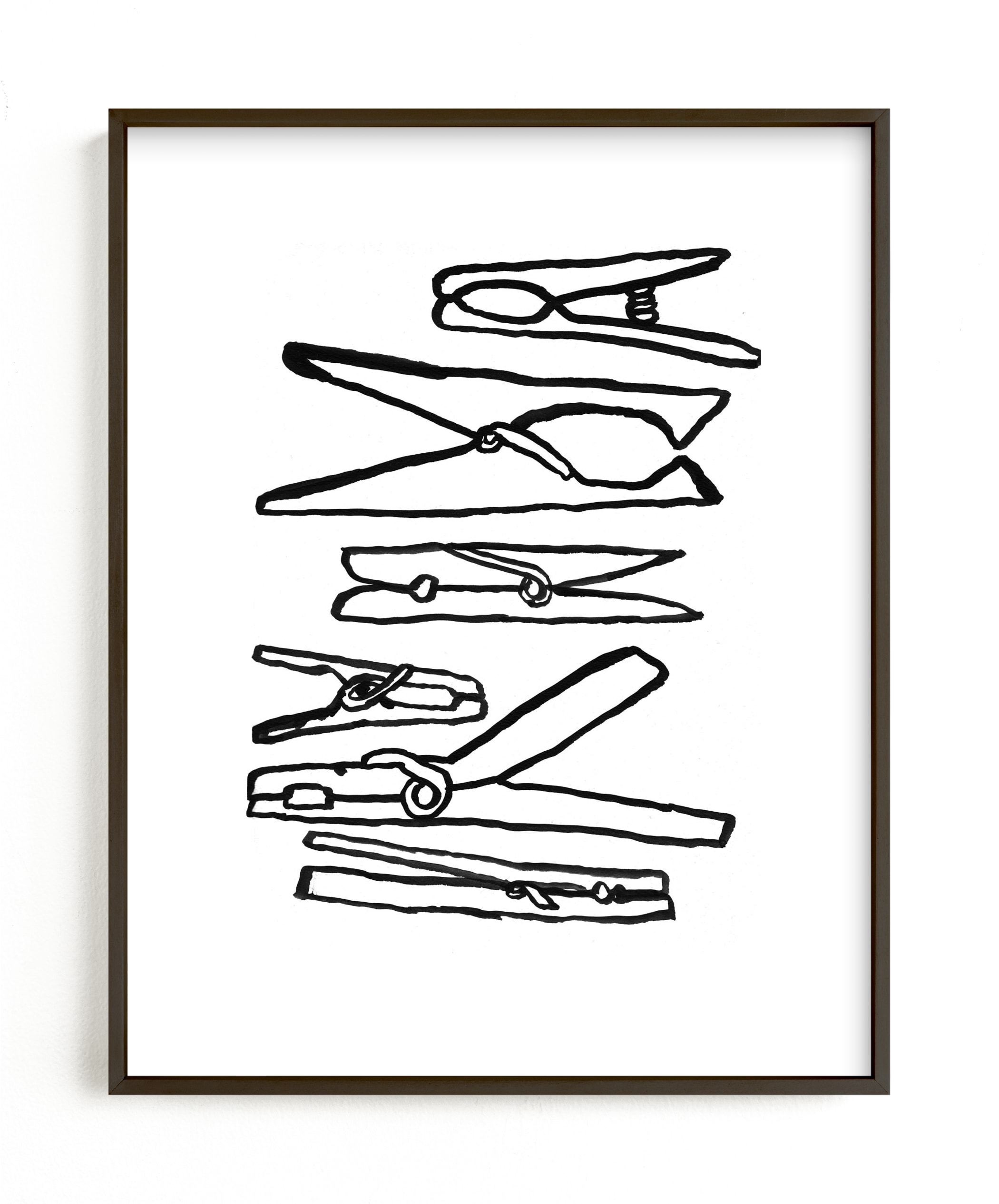 """Clothespins 2"" - Limited Edition Art Print by Elliot Stokes in beautiful frame options and a variety of sizes."