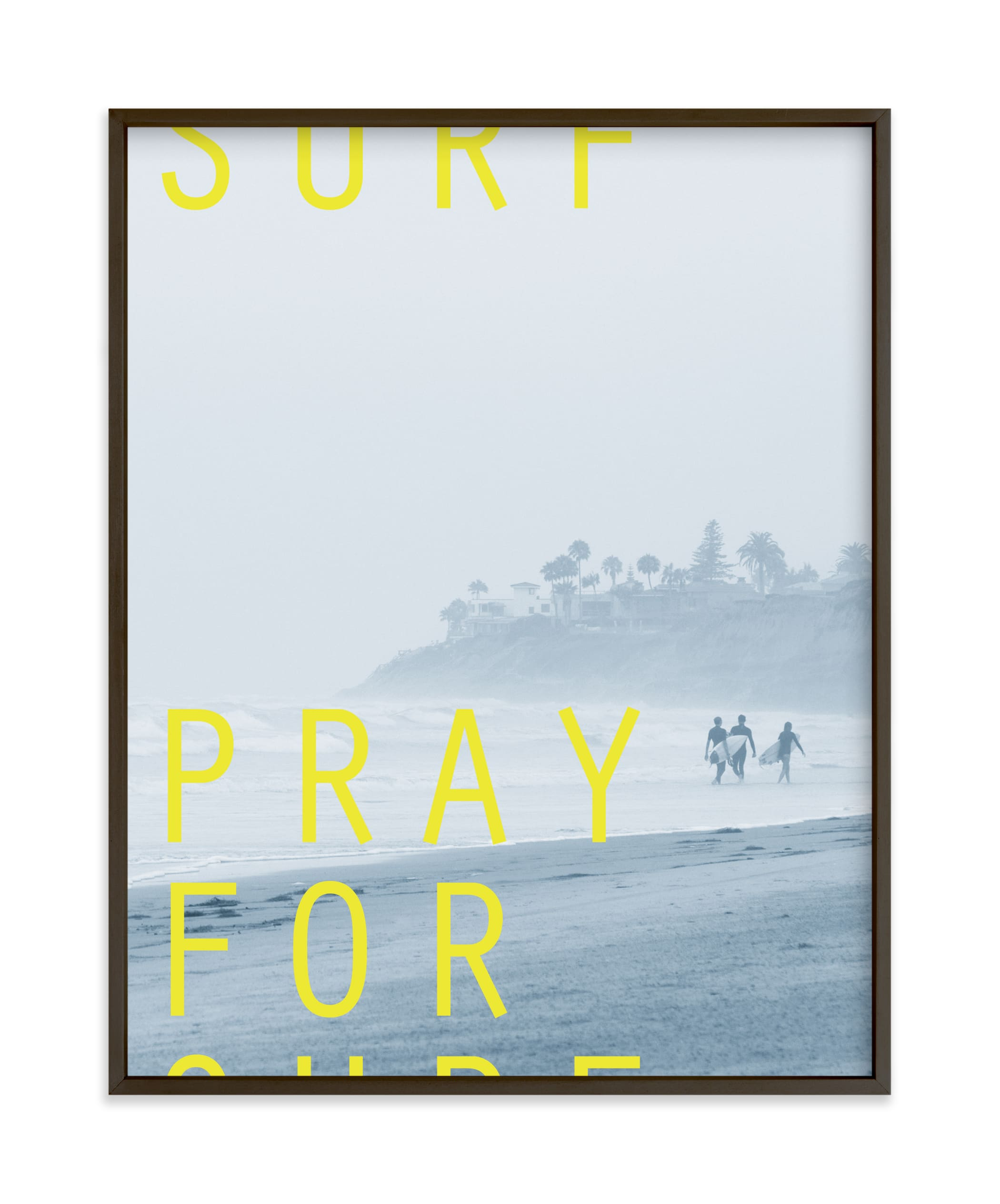 """Pray for Surf"" by Eric Clegg in beautiful frame options and a variety of sizes."