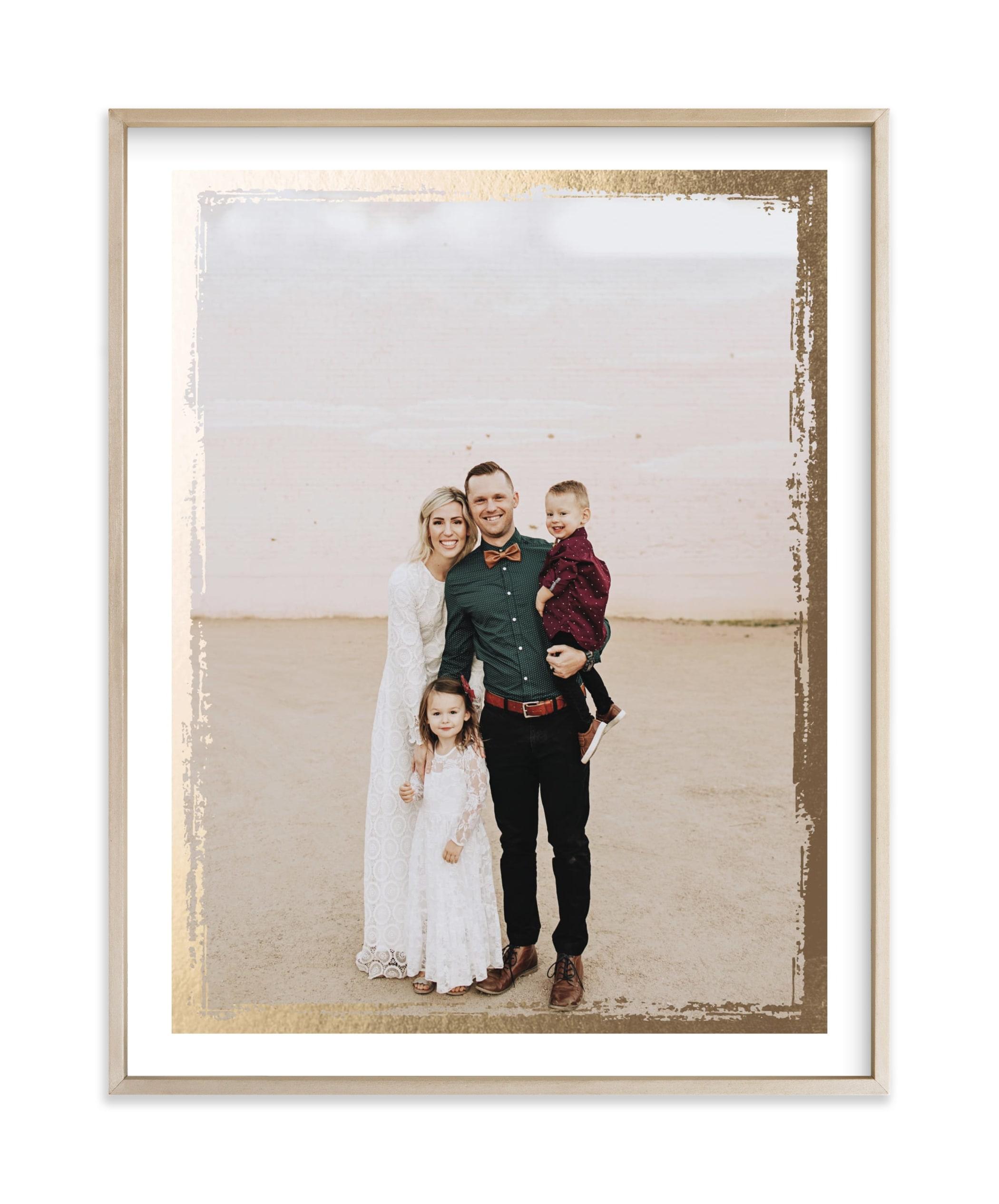 Rustic Edges Foil Pressed Photo Art Print