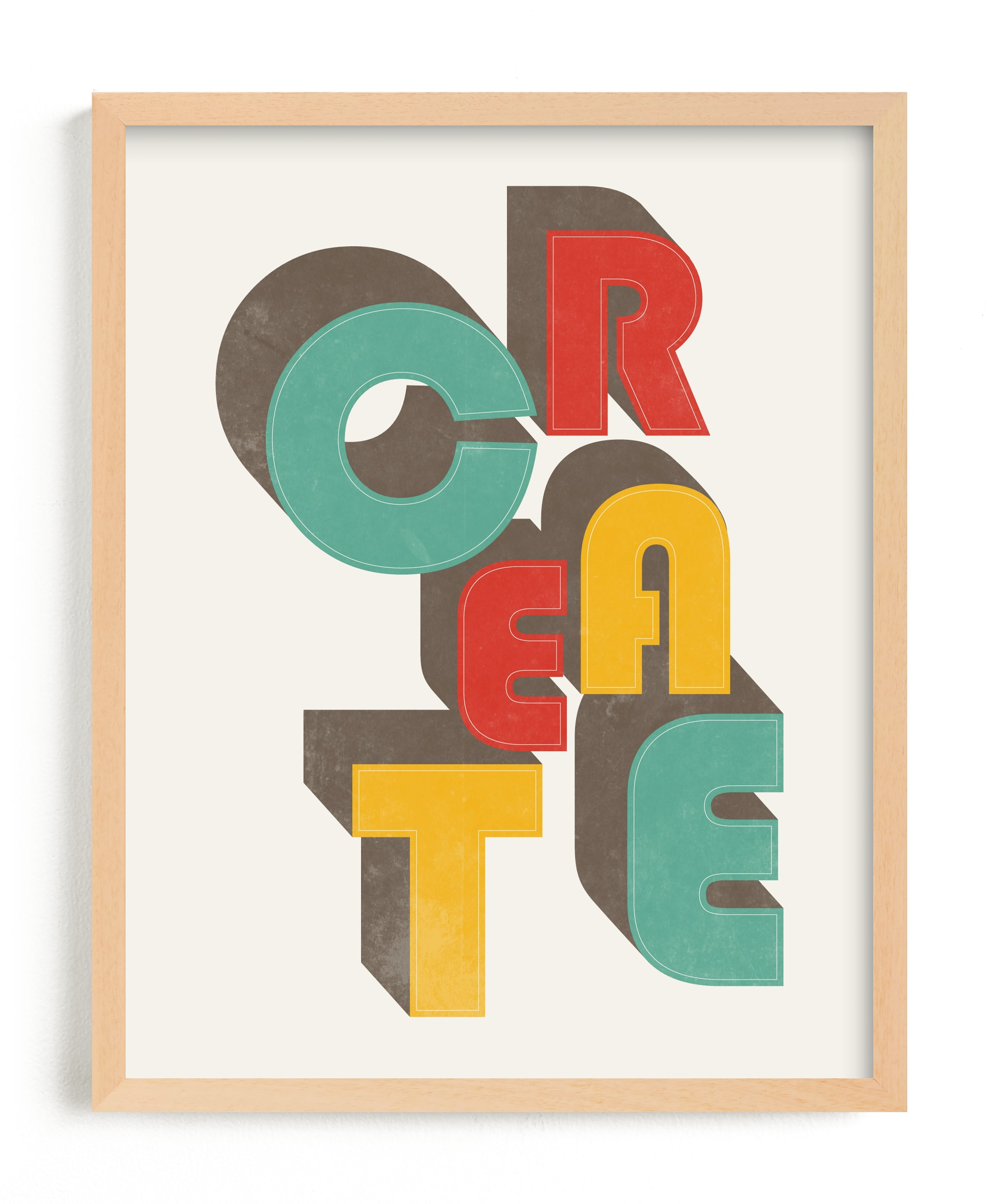 """""""CreAte"""" - Limited Edition Art Print by Jennifer Morehead in beautiful frame options and a variety of sizes."""
