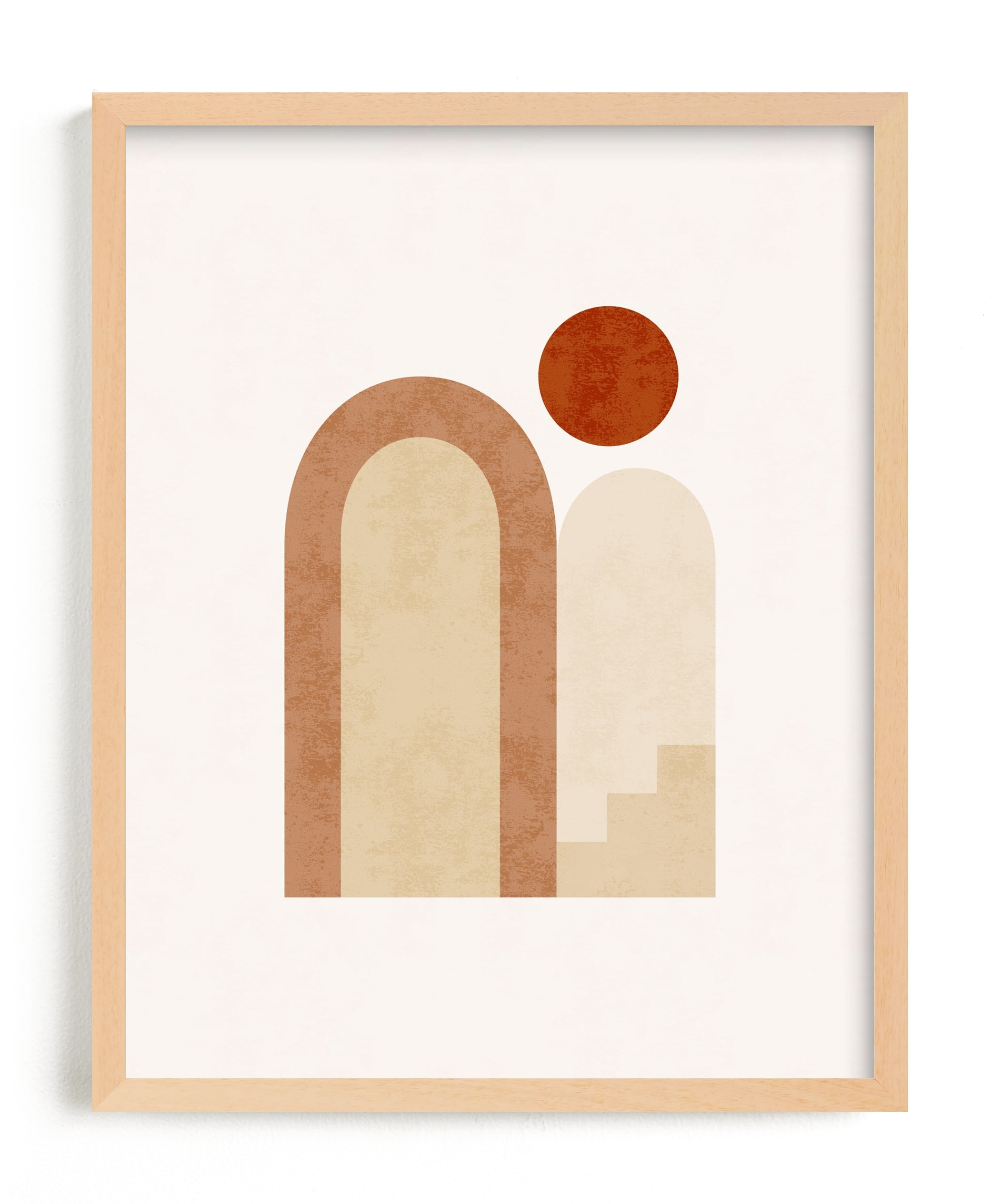 """Rustic Geometry 2"" - Limited Edition Art Print by Iveta Angelova in beautiful frame options and a variety of sizes."