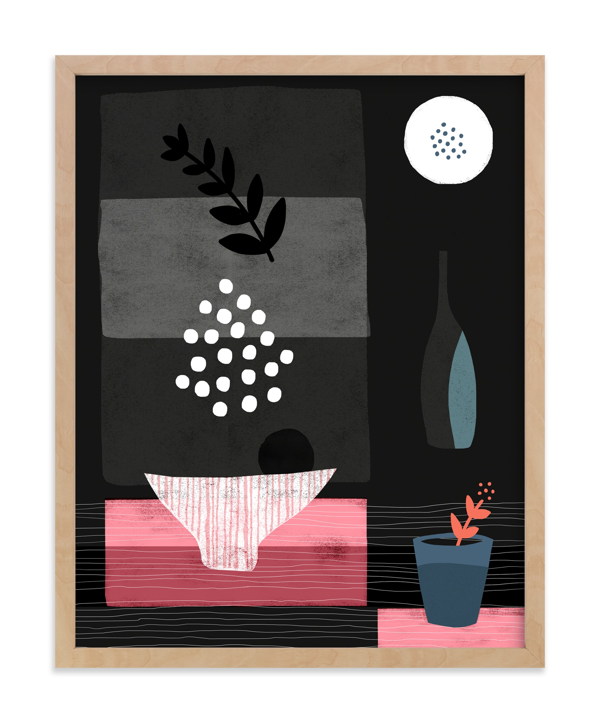 """Night Hours III"" - Art Print by Francesca Iannaccone in beautiful frame options and a variety of sizes."