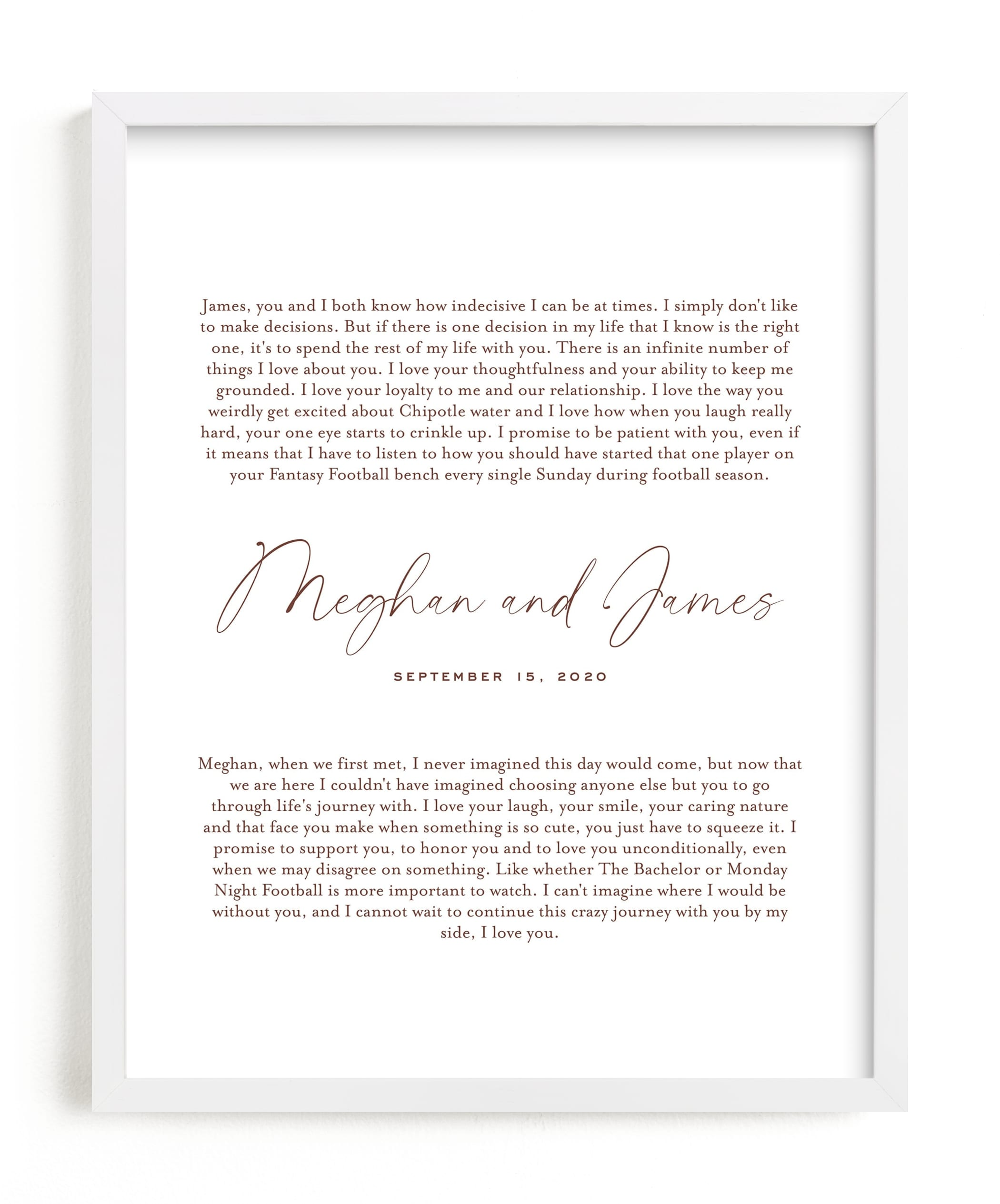 Our Vows Art Print, by Minted