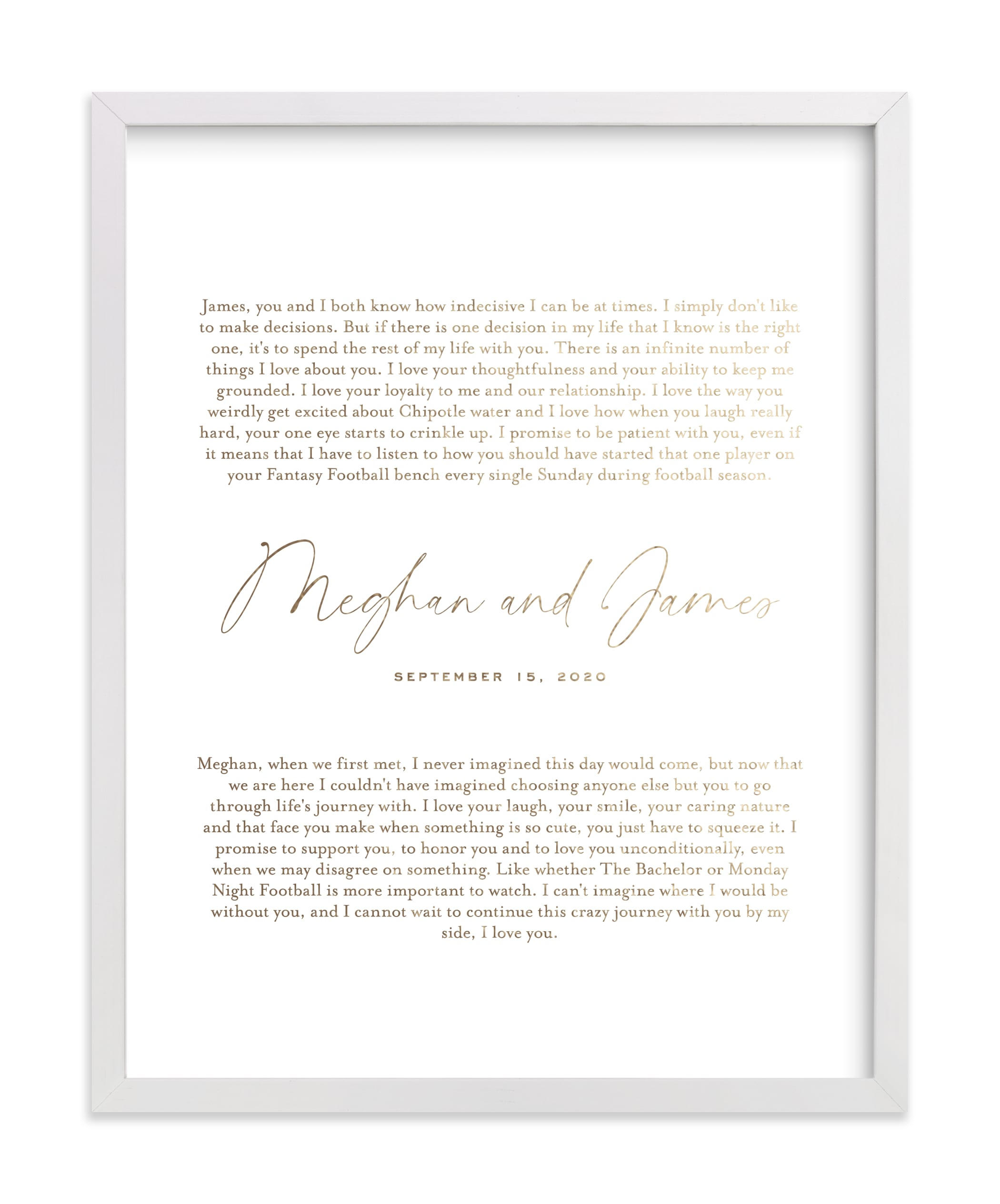 """""""Our Vows Foil Art Print"""" - Drawn Foil Art by Minted in beautiful frame options and a variety of sizes."""