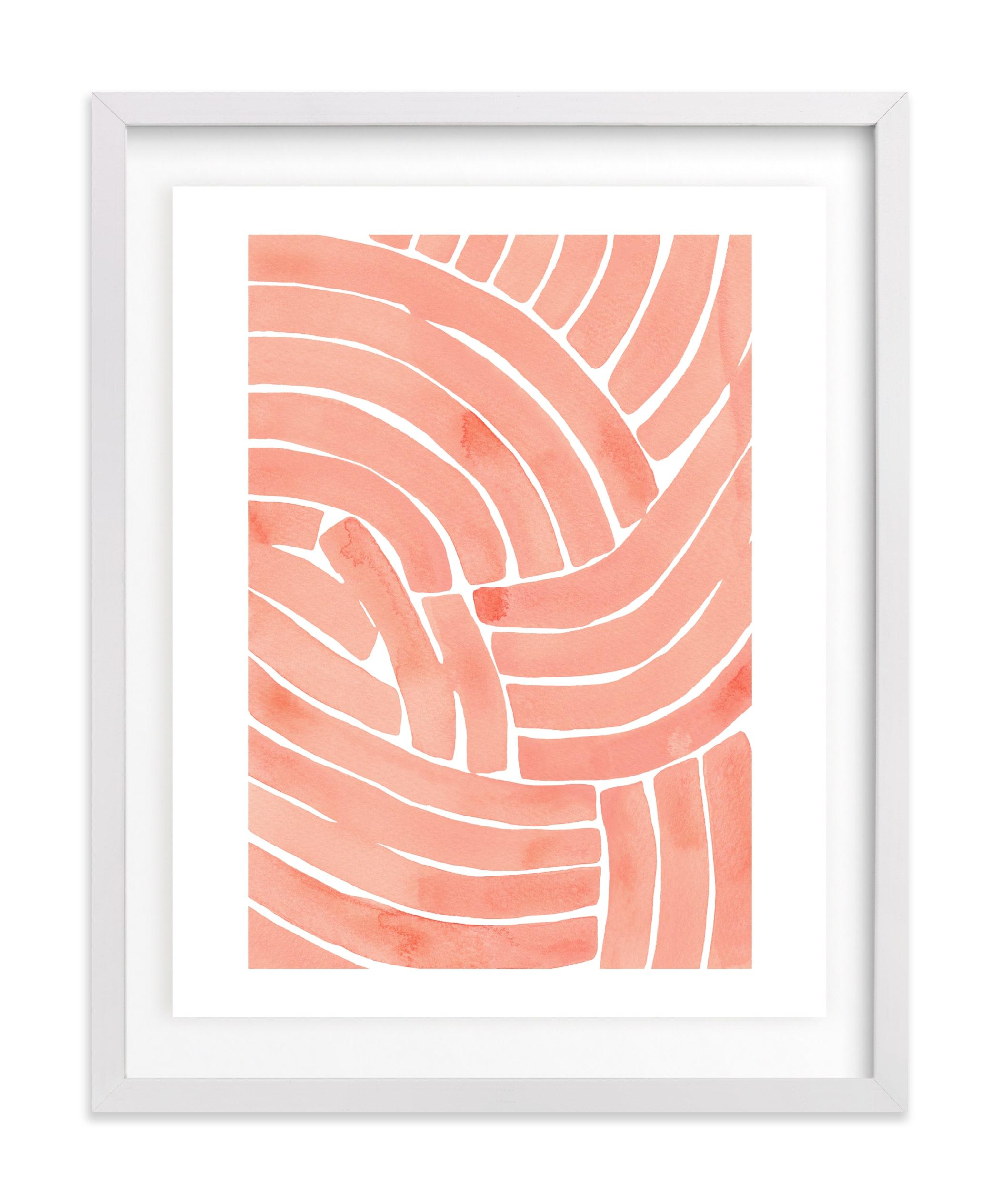 Curvy lines Wall Art Print