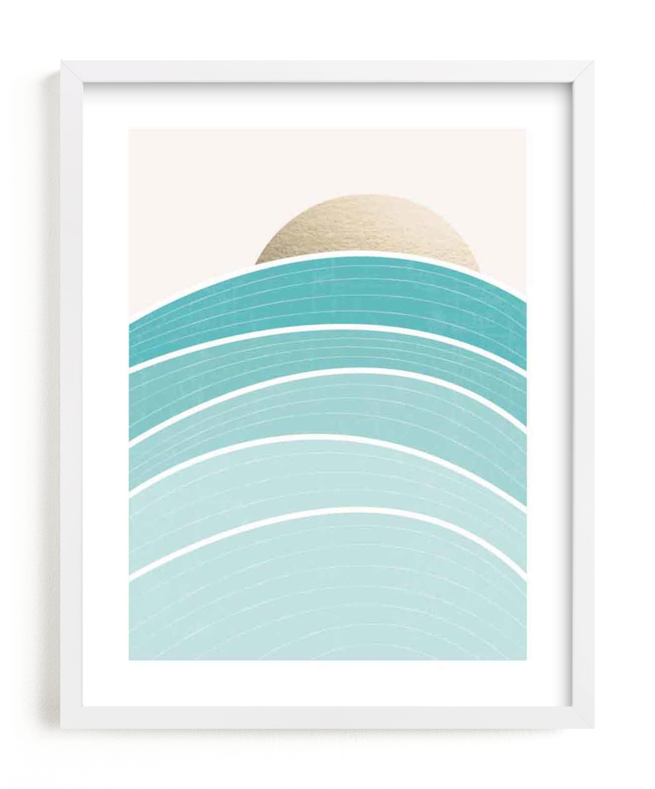 """""""Rise"""" - [non-custom] Foil-pressed Art Print by Jennifer Morehead in beautiful frame options and a variety of sizes."""