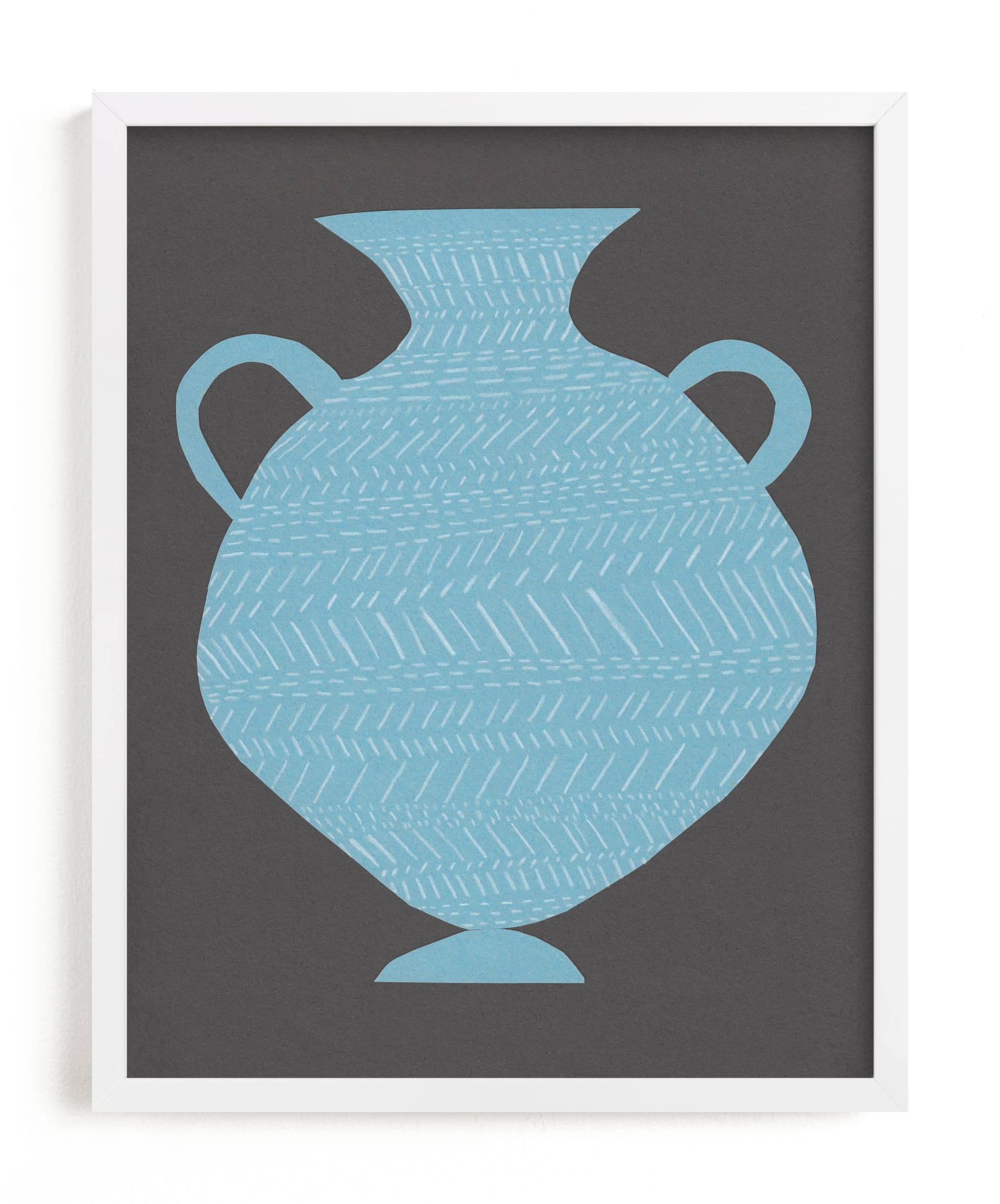 """""""Amphora (blue)"""" - Limited Edition Art Print by Elliot Stokes in beautiful frame options and a variety of sizes."""