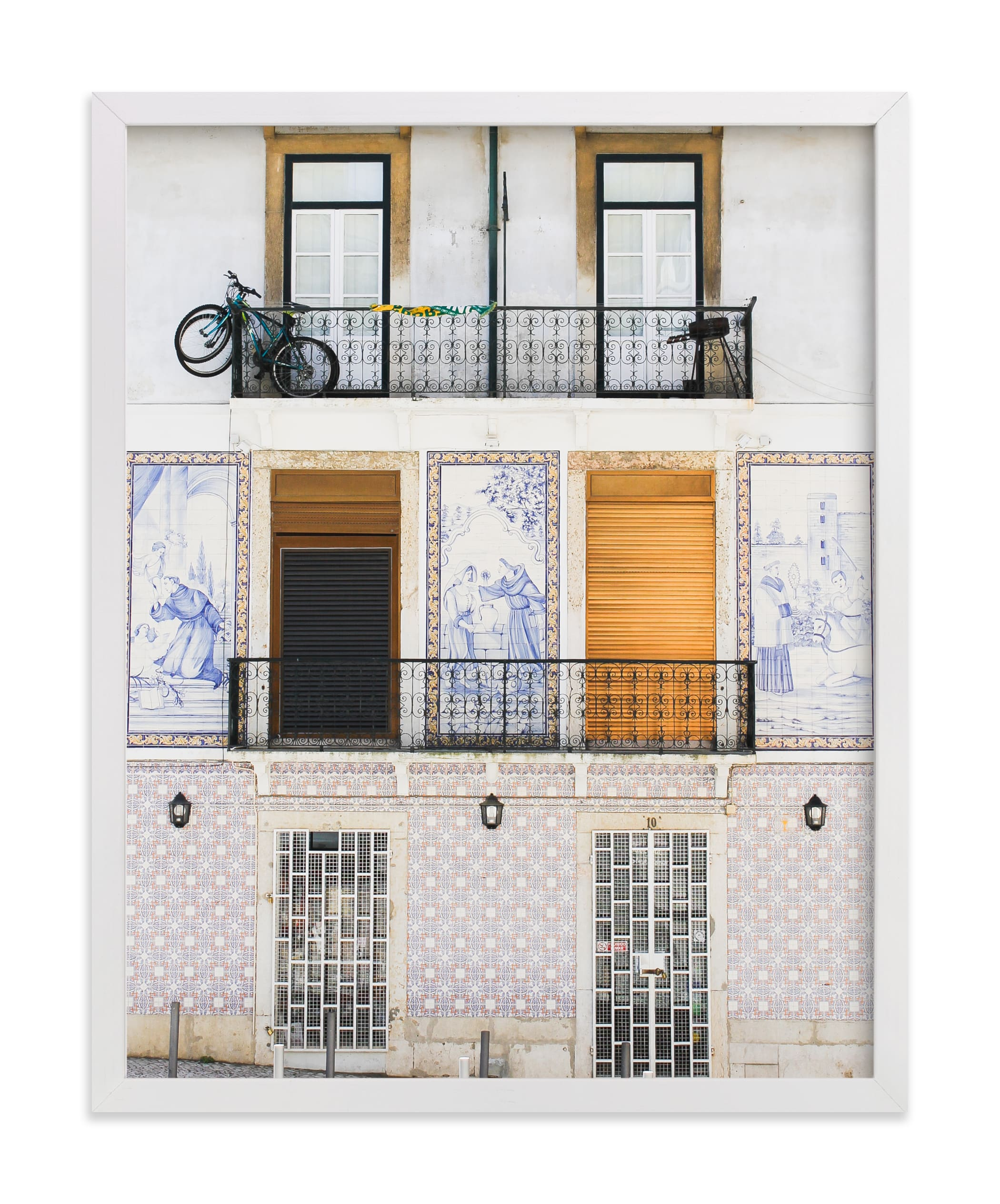 """""""Tiles of Portugal"""" - Limited Edition Art Print by Annie Montgomery in beautiful frame options and a variety of sizes."""