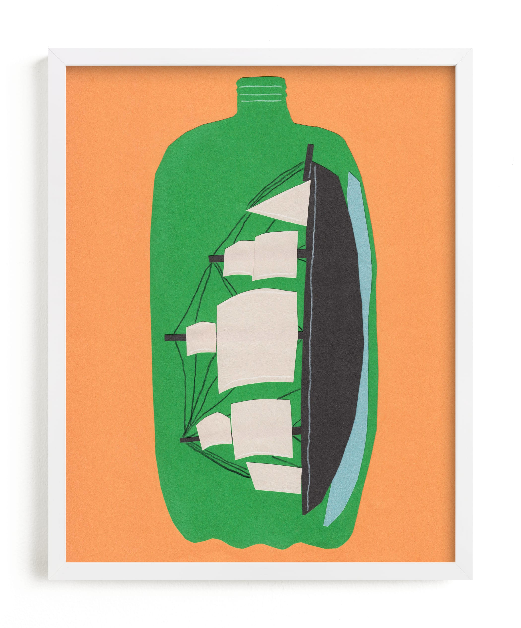 """""""Two Liter Ship"""" - Limited Edition Art Print by Elliot Stokes in beautiful frame options and a variety of sizes."""
