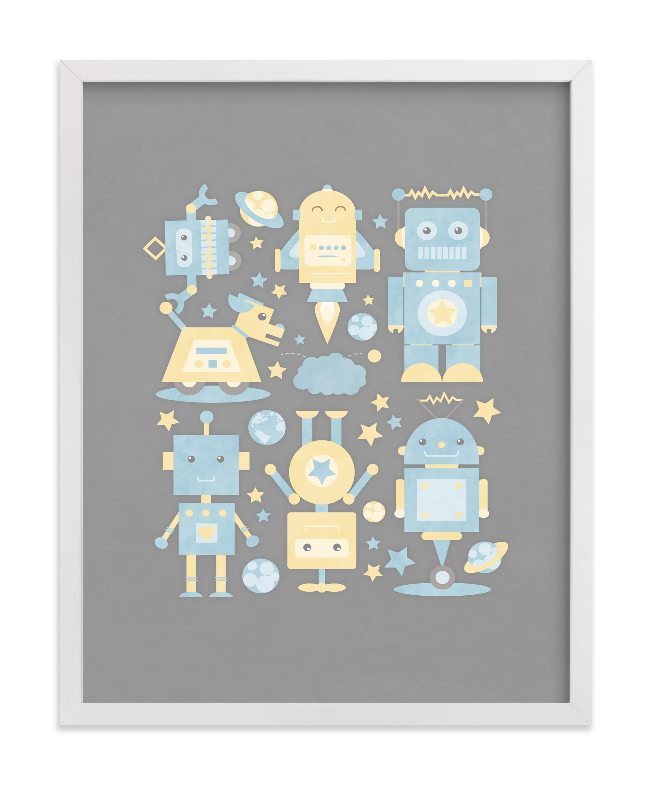 """""""The Robot Collective"""" - Limited Edition Art Print by Dawn Jasper in beautiful frame options and a variety of sizes."""