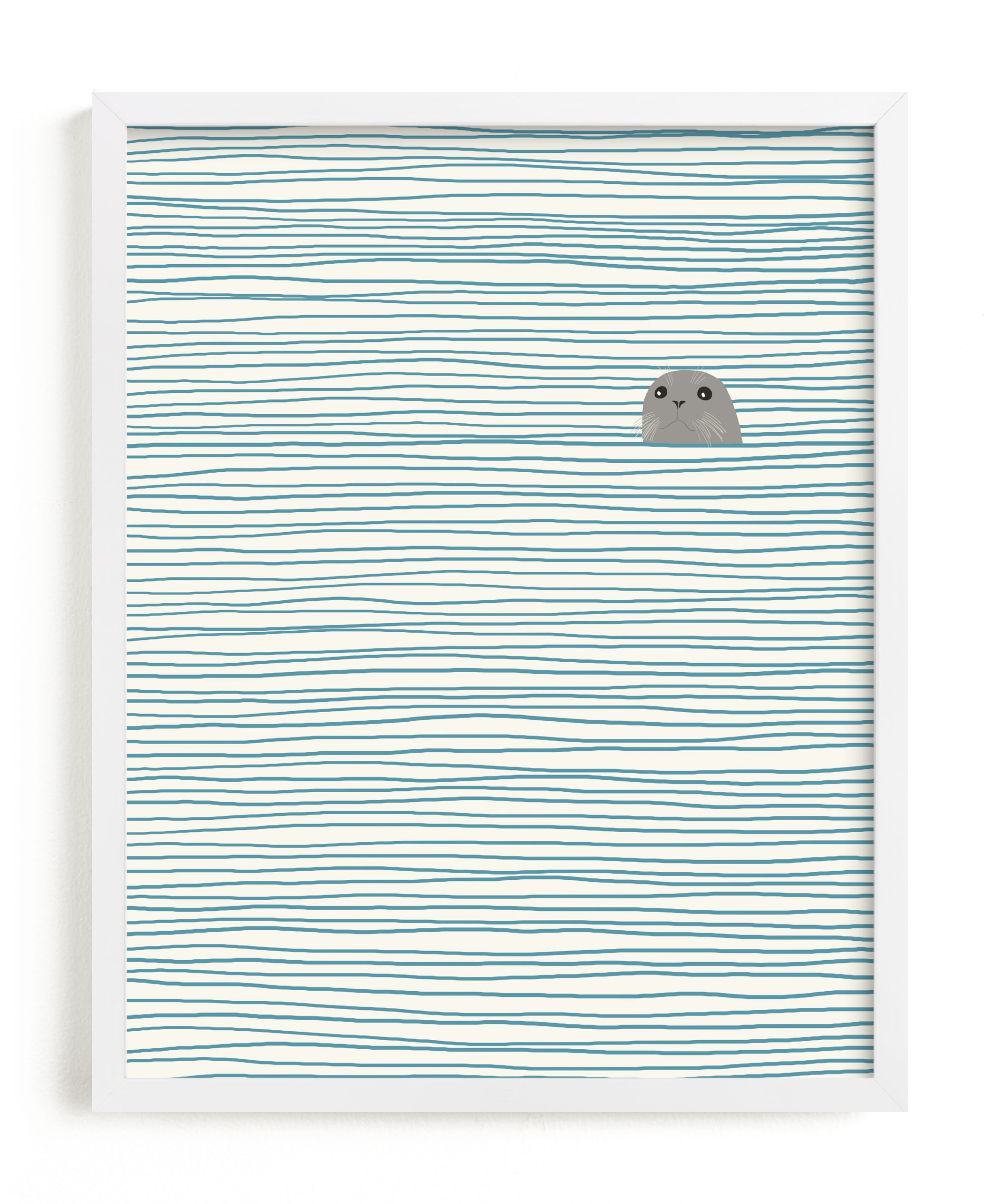 """""""Seal"""" - Limited Edition Art Print by Jorey Hurley in beautiful frame options and a variety of sizes."""