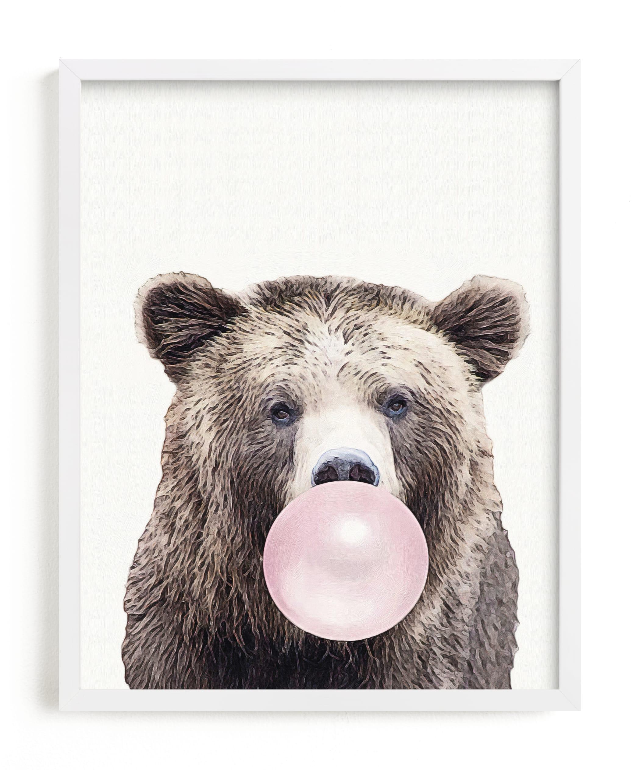 Bubblegum: Bear Children's Art Print