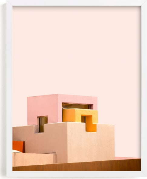 This is a pink art by Lisa Sundin called Urban Desert Series 3.