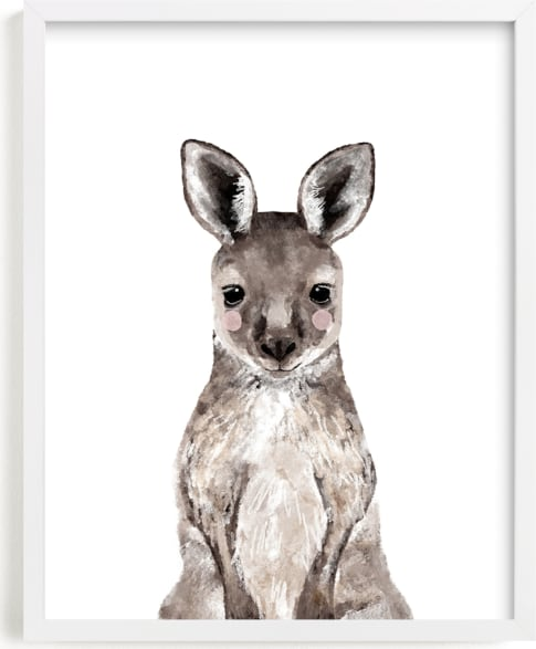 This is a brown art by Cass Loh called Baby Kangaroo.