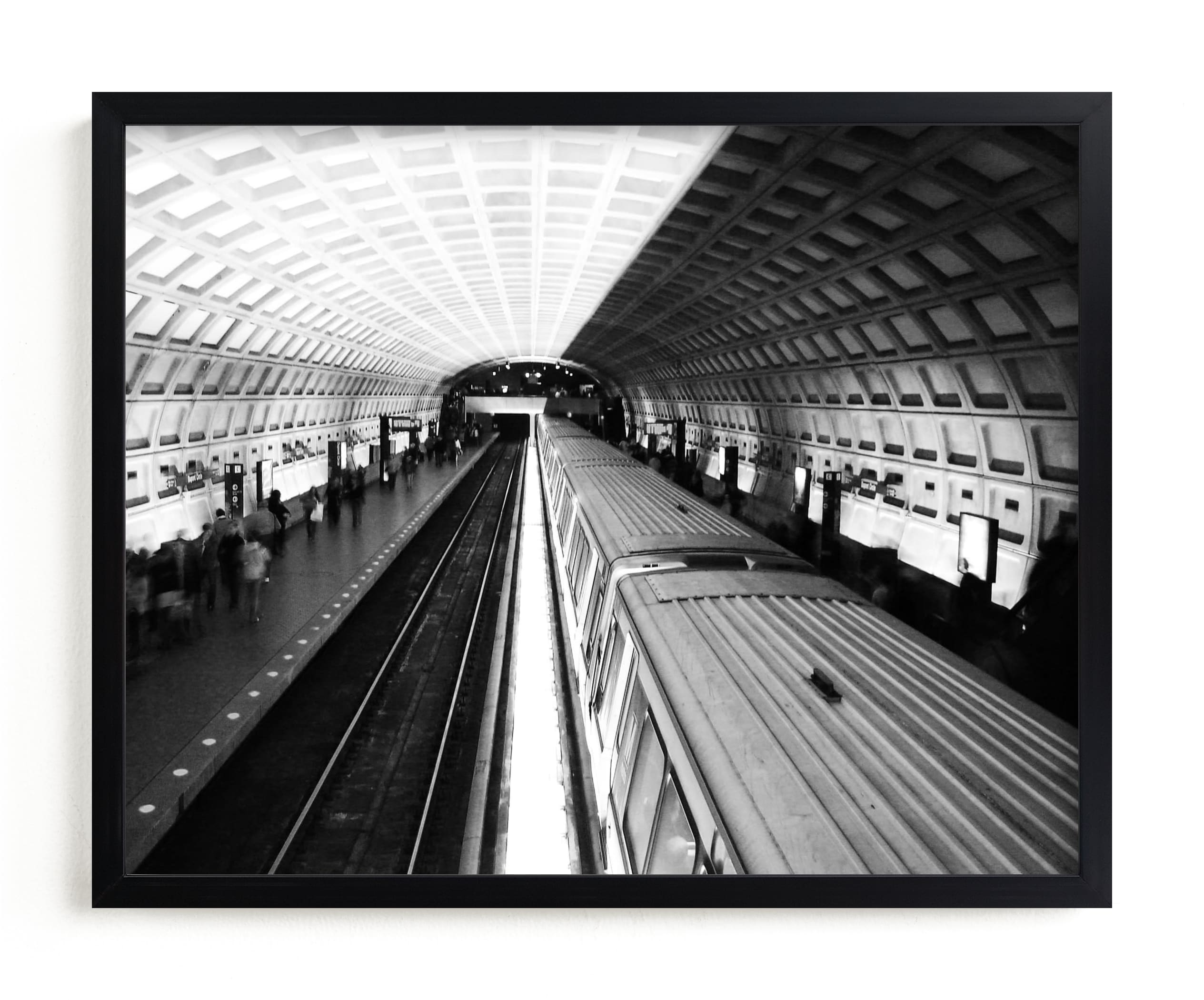 """""""DC subway fast track"""" - Limited Edition Art Print by van tsao in beautiful frame options and a variety of sizes."""