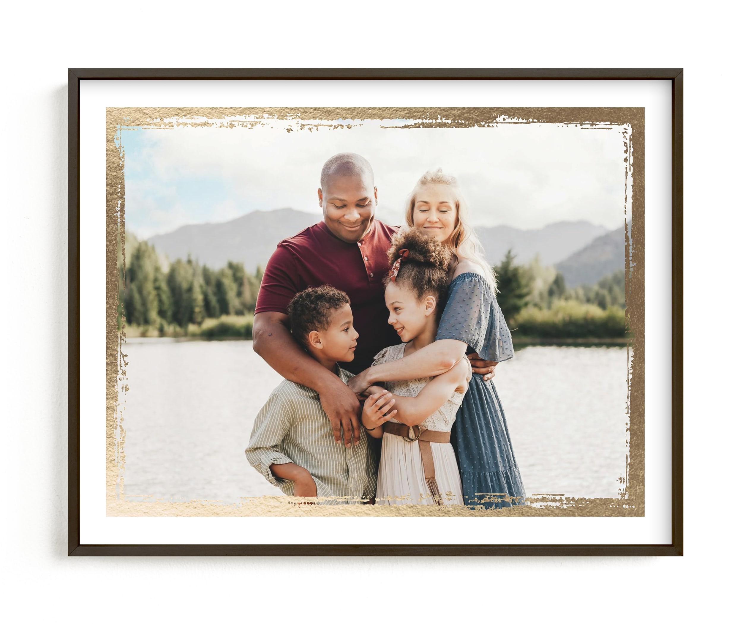 Rustic Frame Foil Pressed Photo Art Print