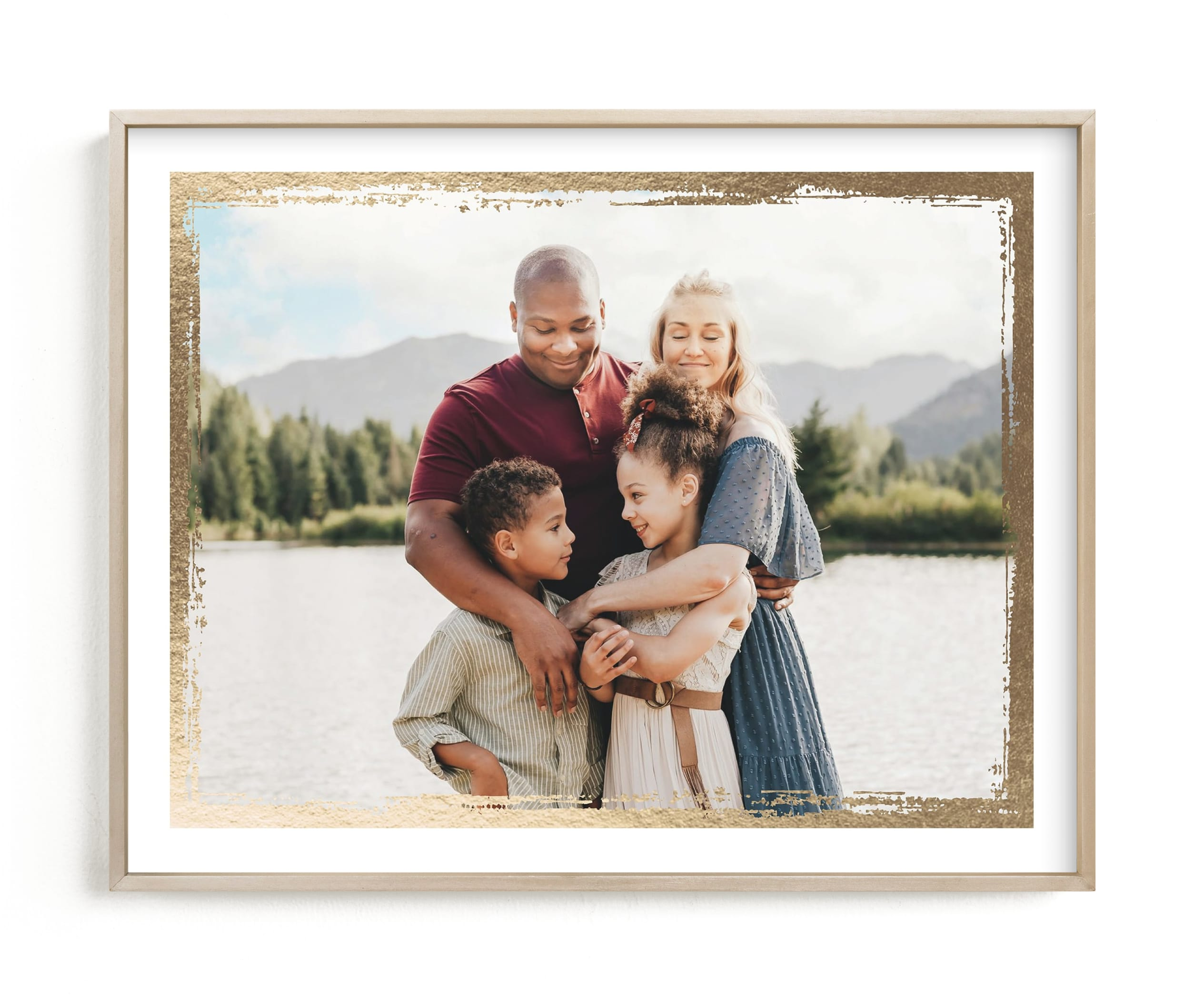 Rustic Frame Foil Pressed Photo Art Print