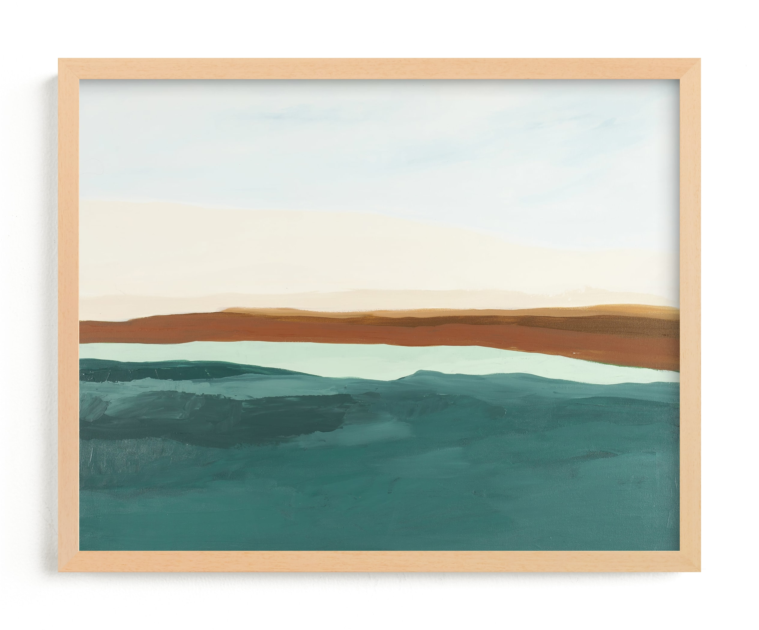 """""""Fall Abstract Seascape"""" - Limited Edition Art Print by Caryn Owen in beautiful frame options and a variety of sizes."""