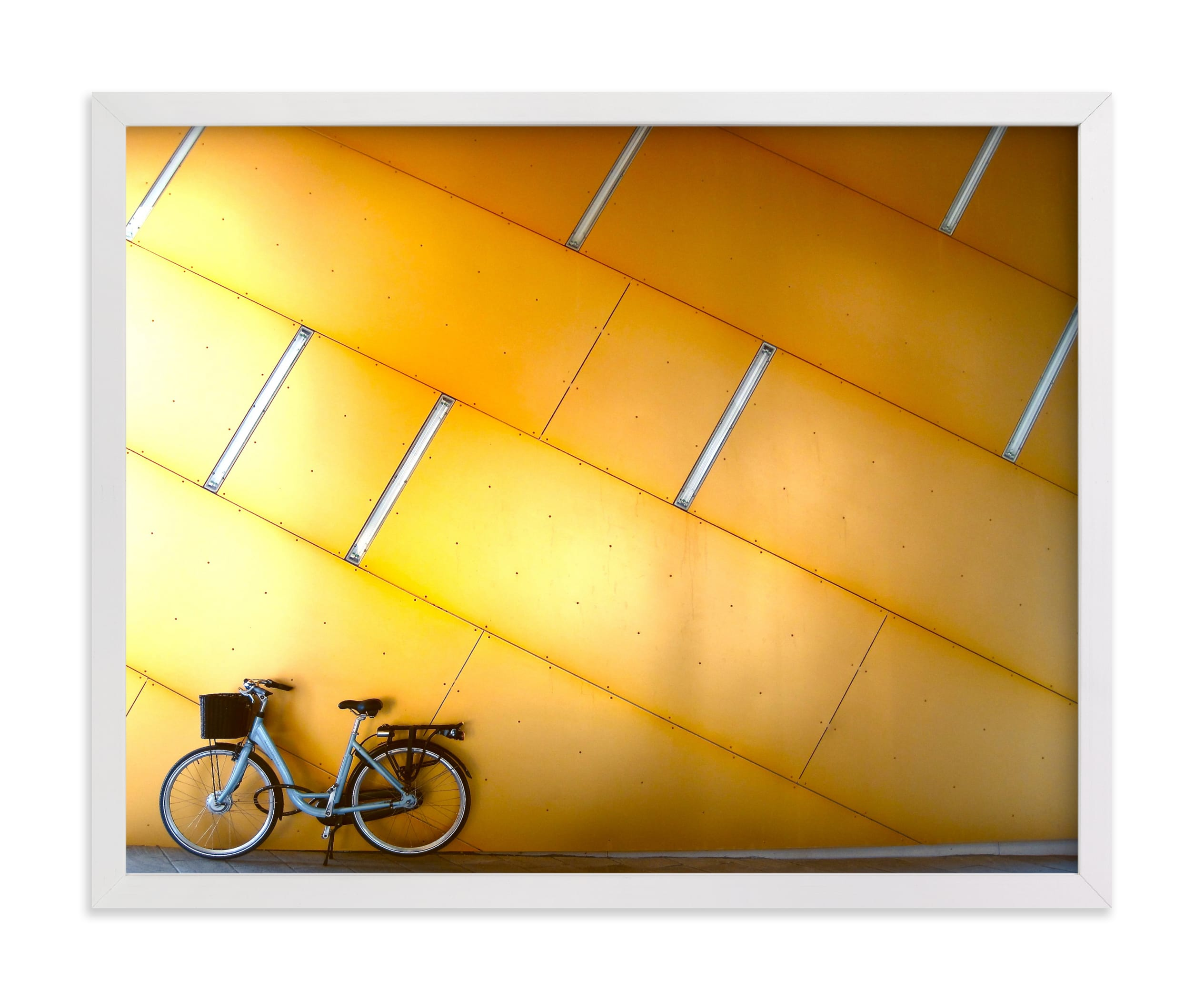 """""""Copenhagen Yellow"""" - Limited Edition Art Print by Sadye M Sagov in beautiful frame options and a variety of sizes."""