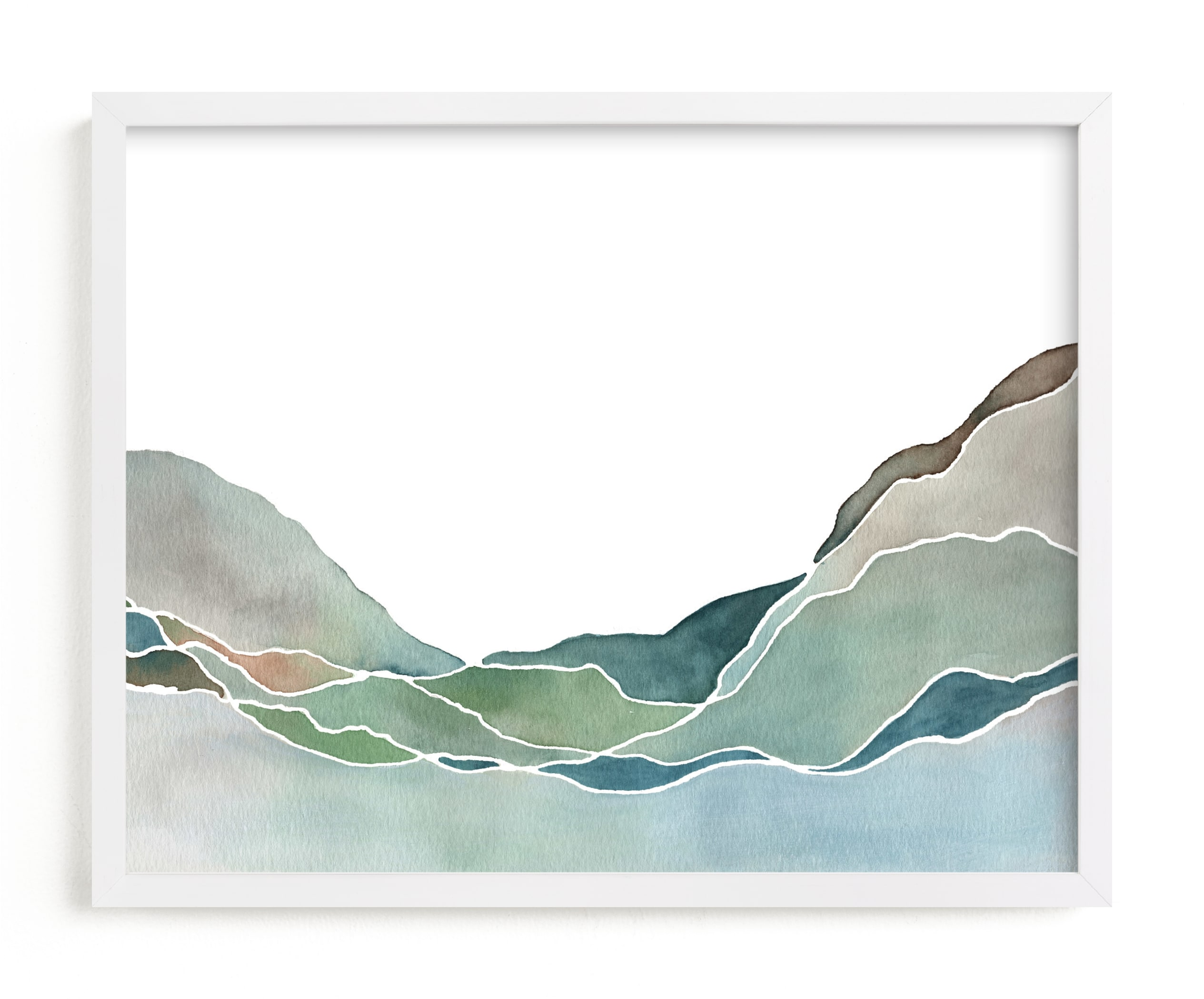 """Terrain No. 1"" - Limited Edition Art Print by Jennifer Daily in beautiful frame options and a variety of sizes."