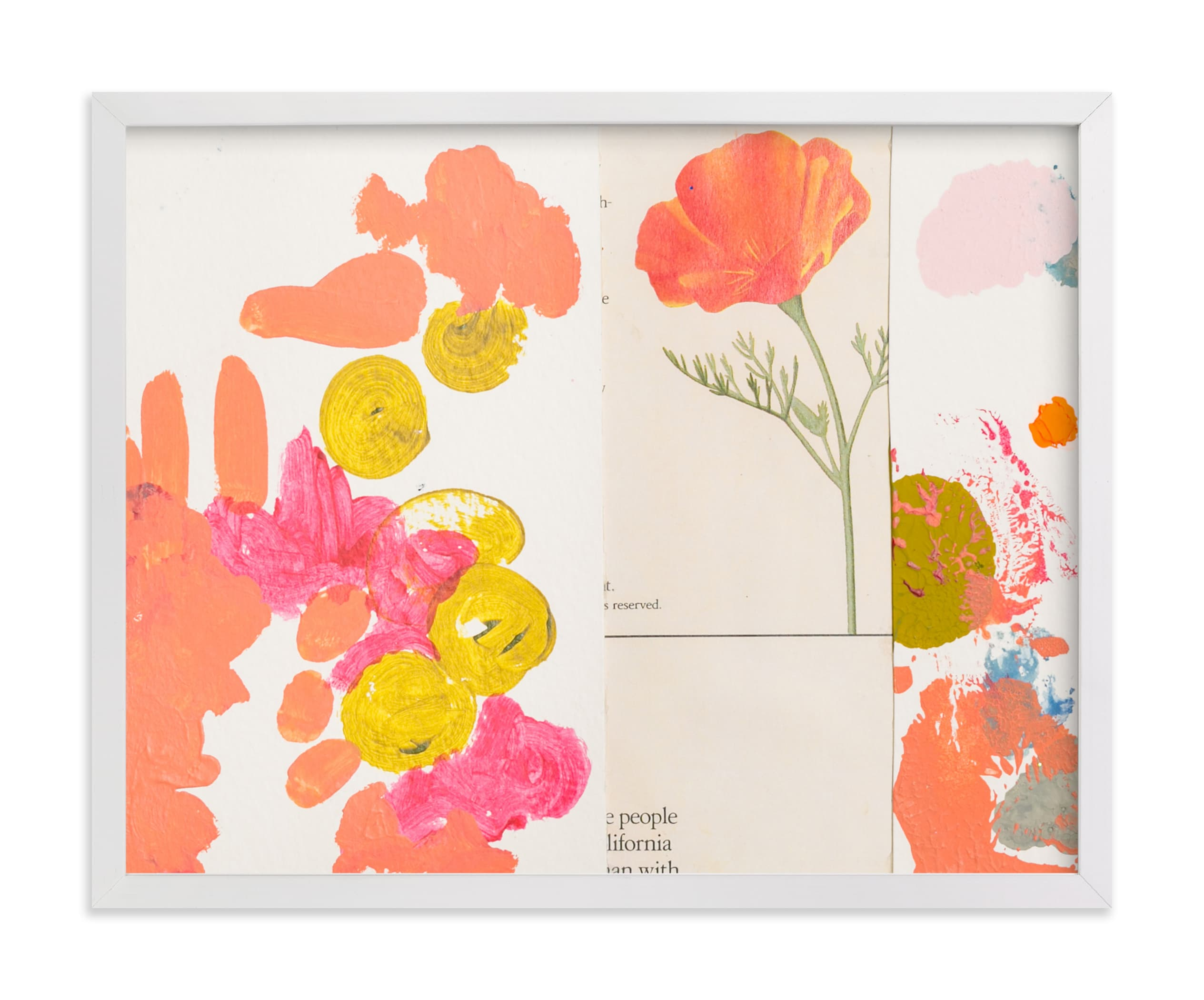 """""""California Poppy"""" - Limited Edition Art Print by Erin McCluskey Wheeler in beautiful frame options and a variety of sizes."""