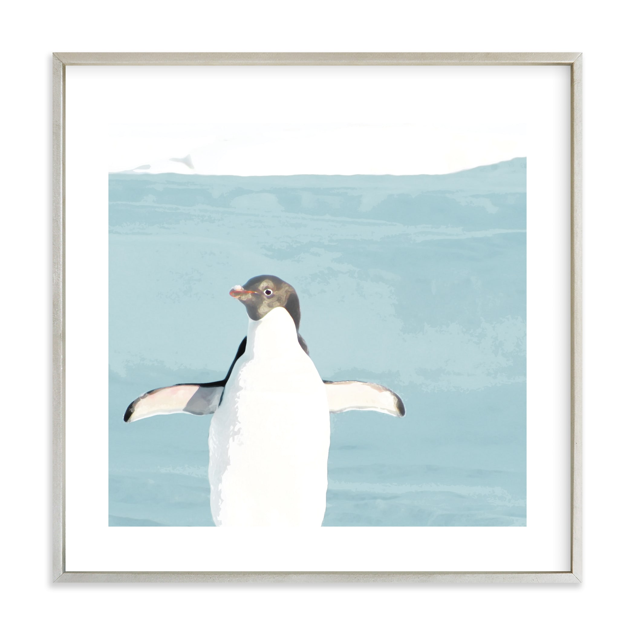 Naked Penguin Wall Art Prints by Michelle Poe | Minted