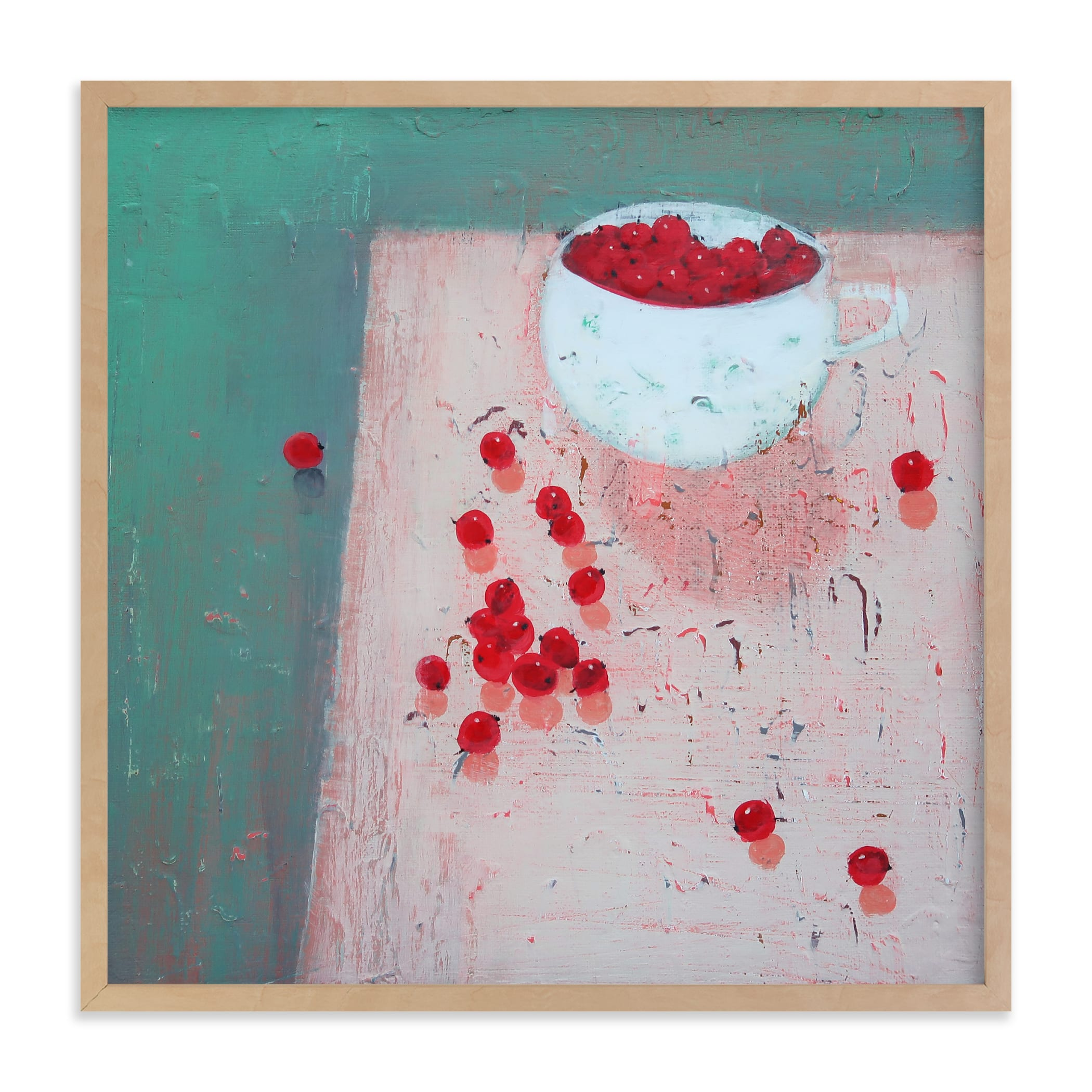"""""""Berries in a Cup"""" - Limited Edition Art Print by Ayna Paisley in beautiful frame options and a variety of sizes."""