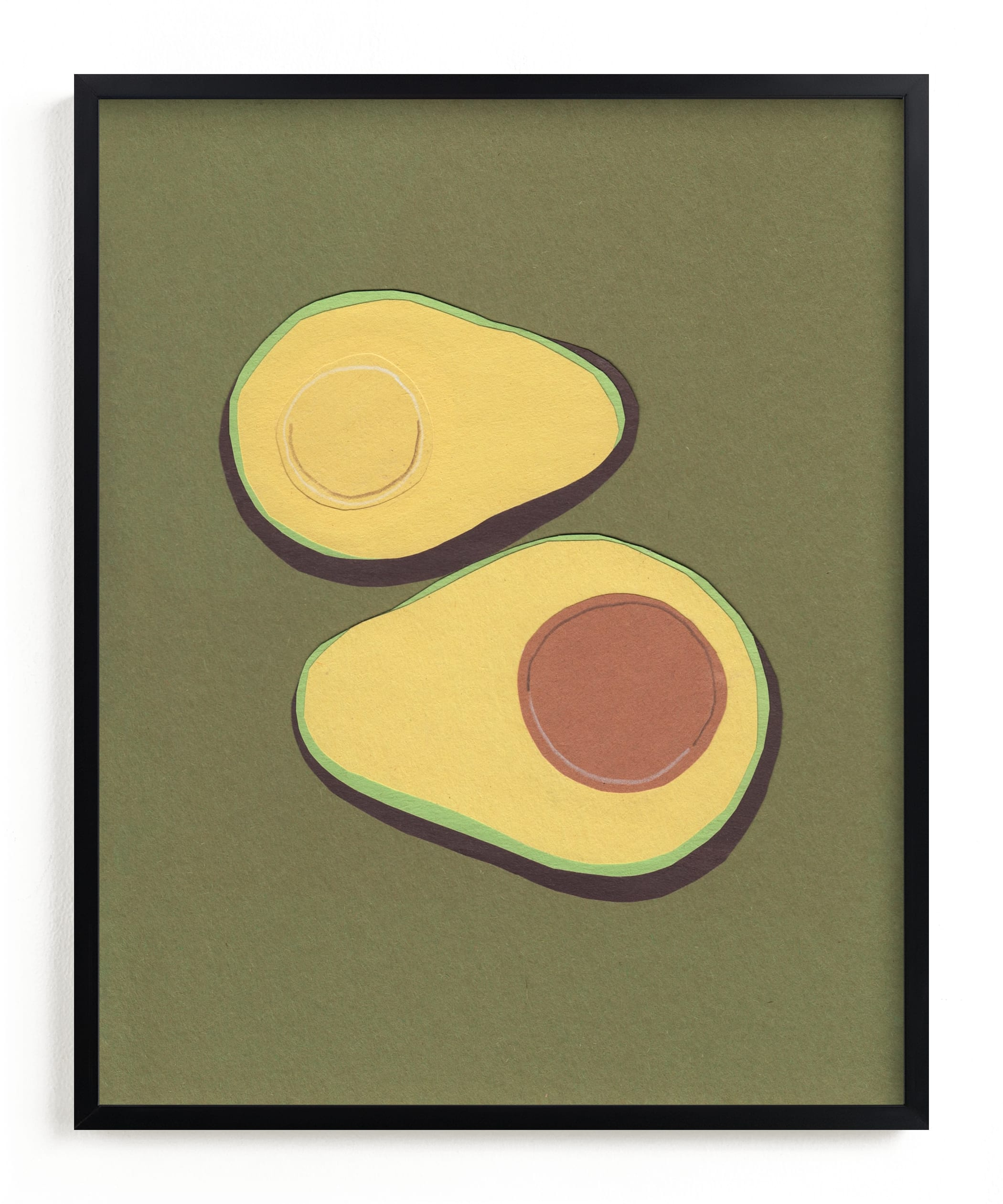 """avocado"" - Limited Edition Art Print by Elliot Stokes in beautiful frame options and a variety of sizes."