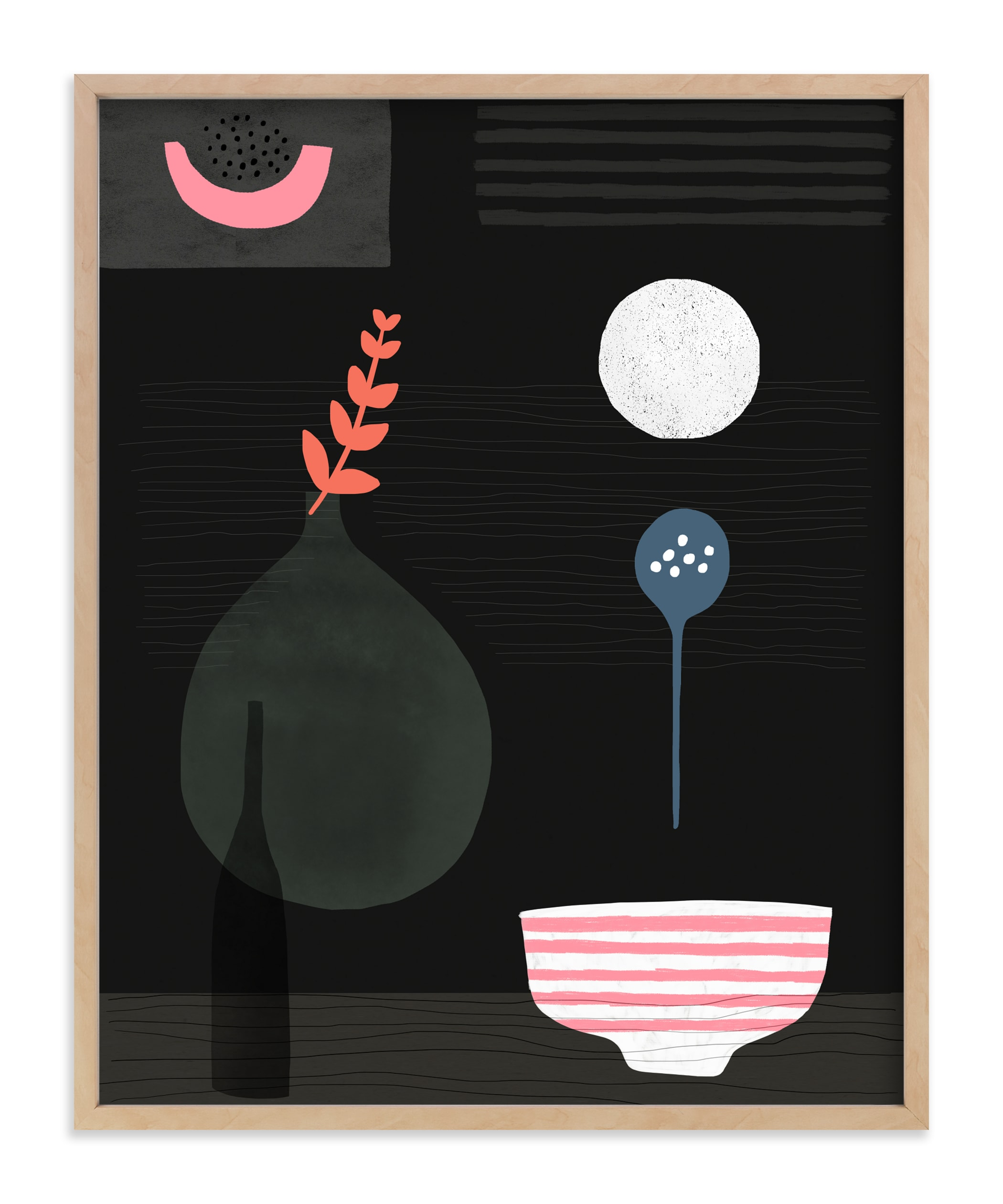 """""""Night Hours 2"""" - Art Print by Francesca Iannaccone in beautiful frame options and a variety of sizes."""