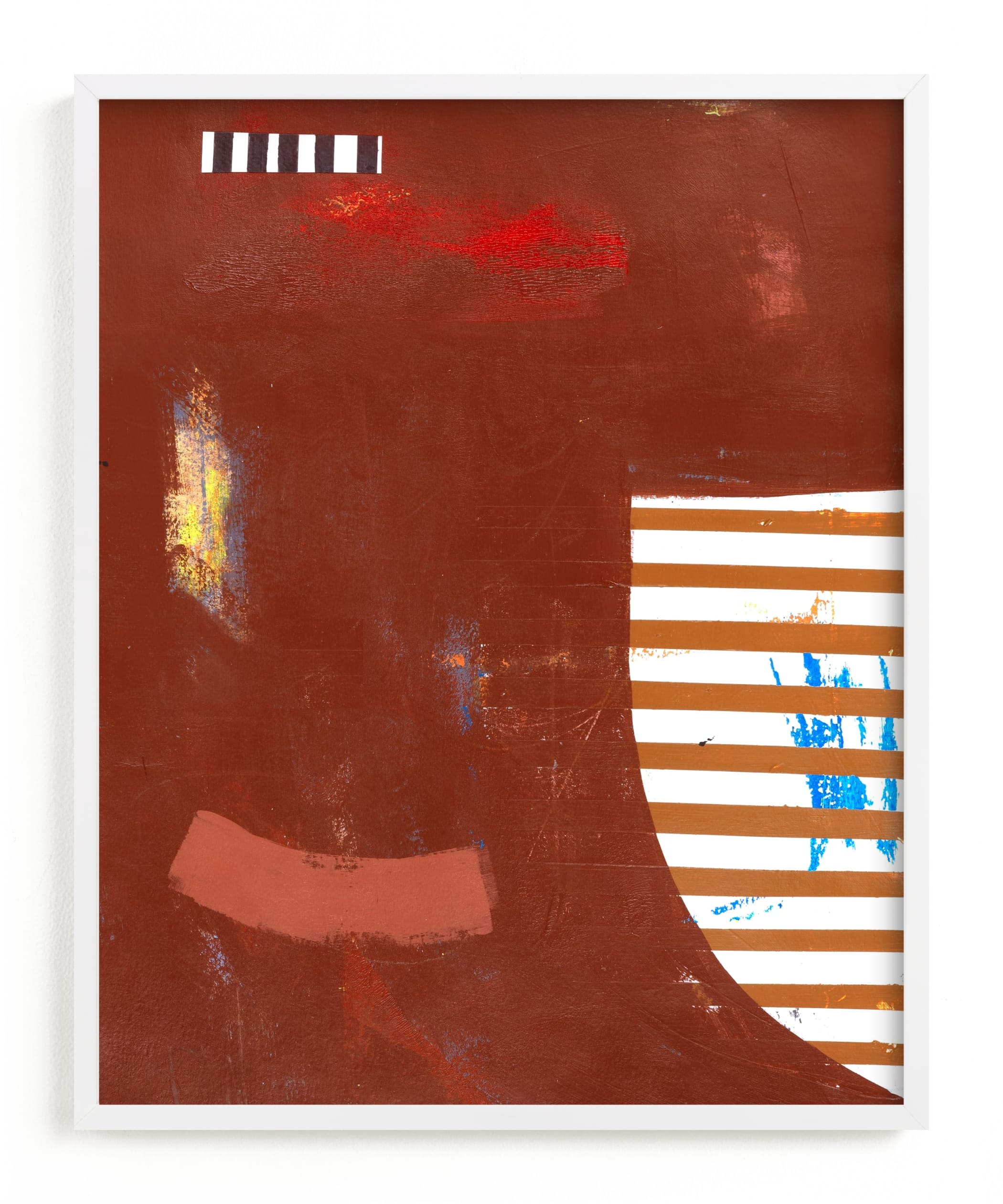 """""""RAW SIENNA & ROUGE"""" - Limited Edition Art Print by Keren Toledano in beautiful frame options and a variety of sizes."""