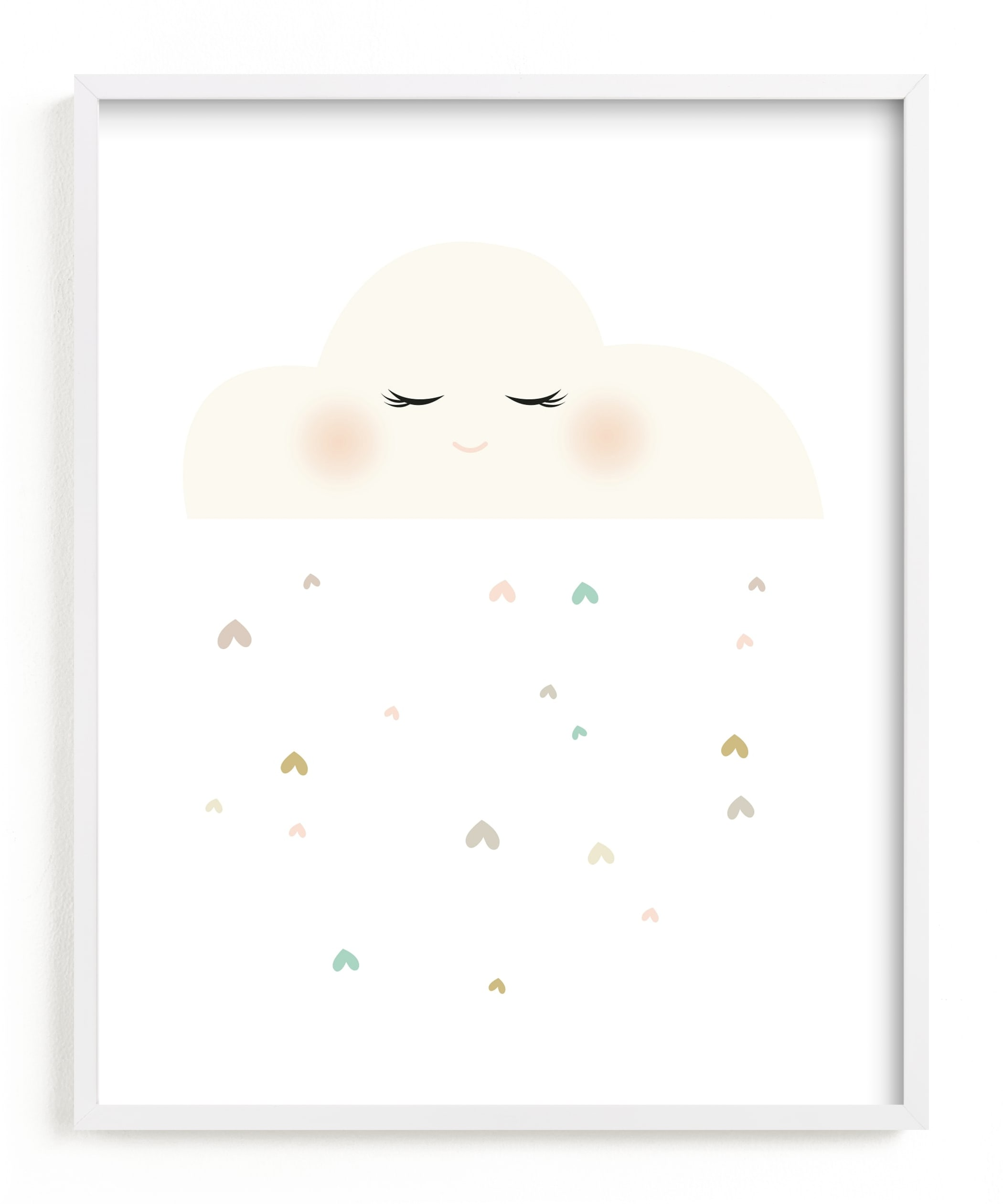 """""""Miss Cloud"""" - Limited Edition Art Print by fatfatin in beautiful frame options and a variety of sizes."""