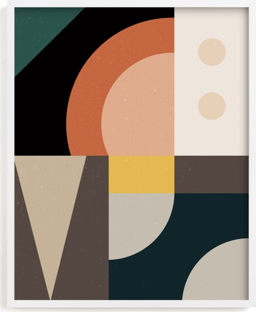 This is a colorful art by Maria Alou called Mid Century Jungle I.