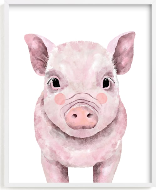 This is a white art by Cass Loh called Baby Animal Pig.