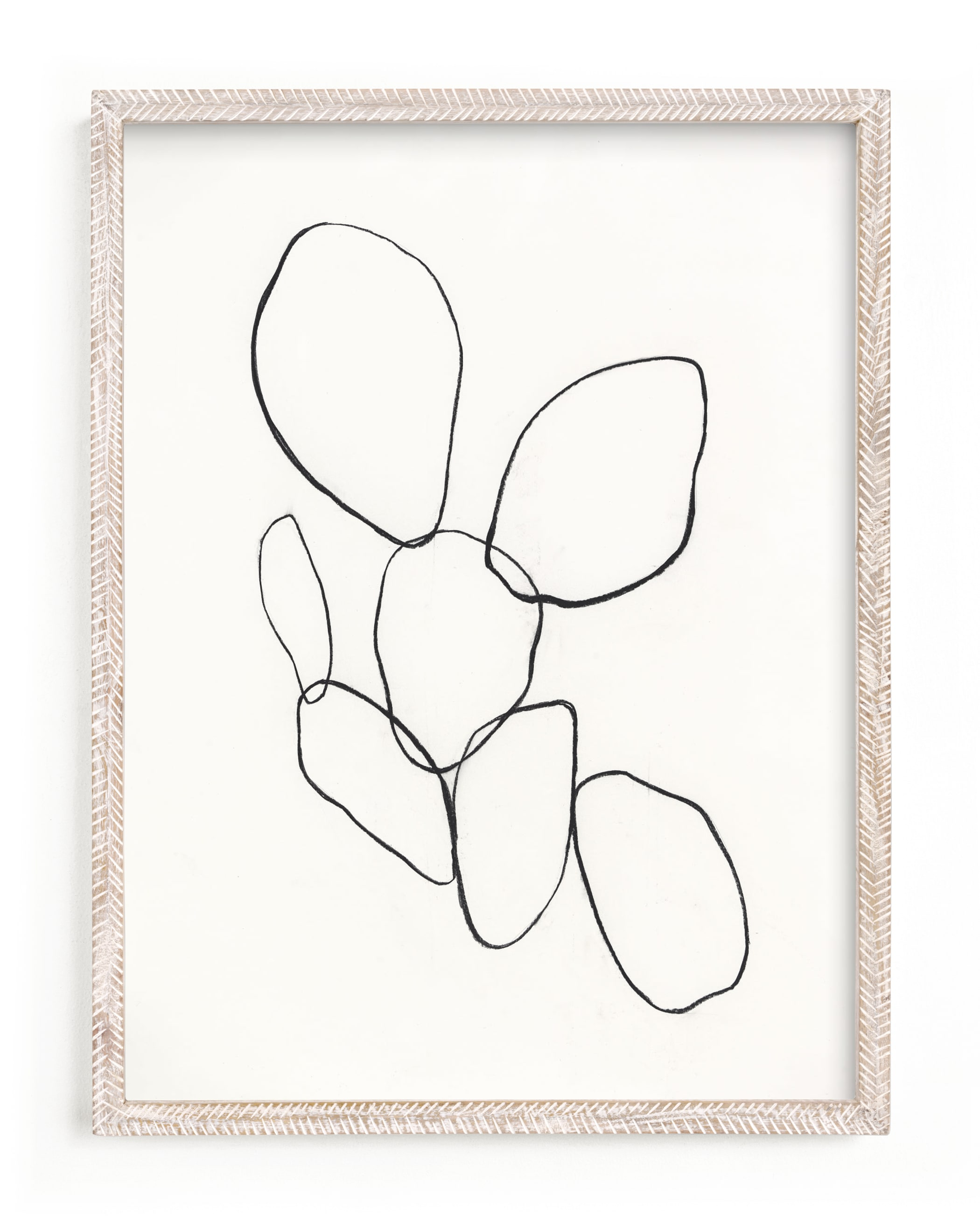 """""""Cactus Line Drawing"""" - Limited Edition Art Print by Amanda Phelps in beautiful frame options and a variety of sizes."""
