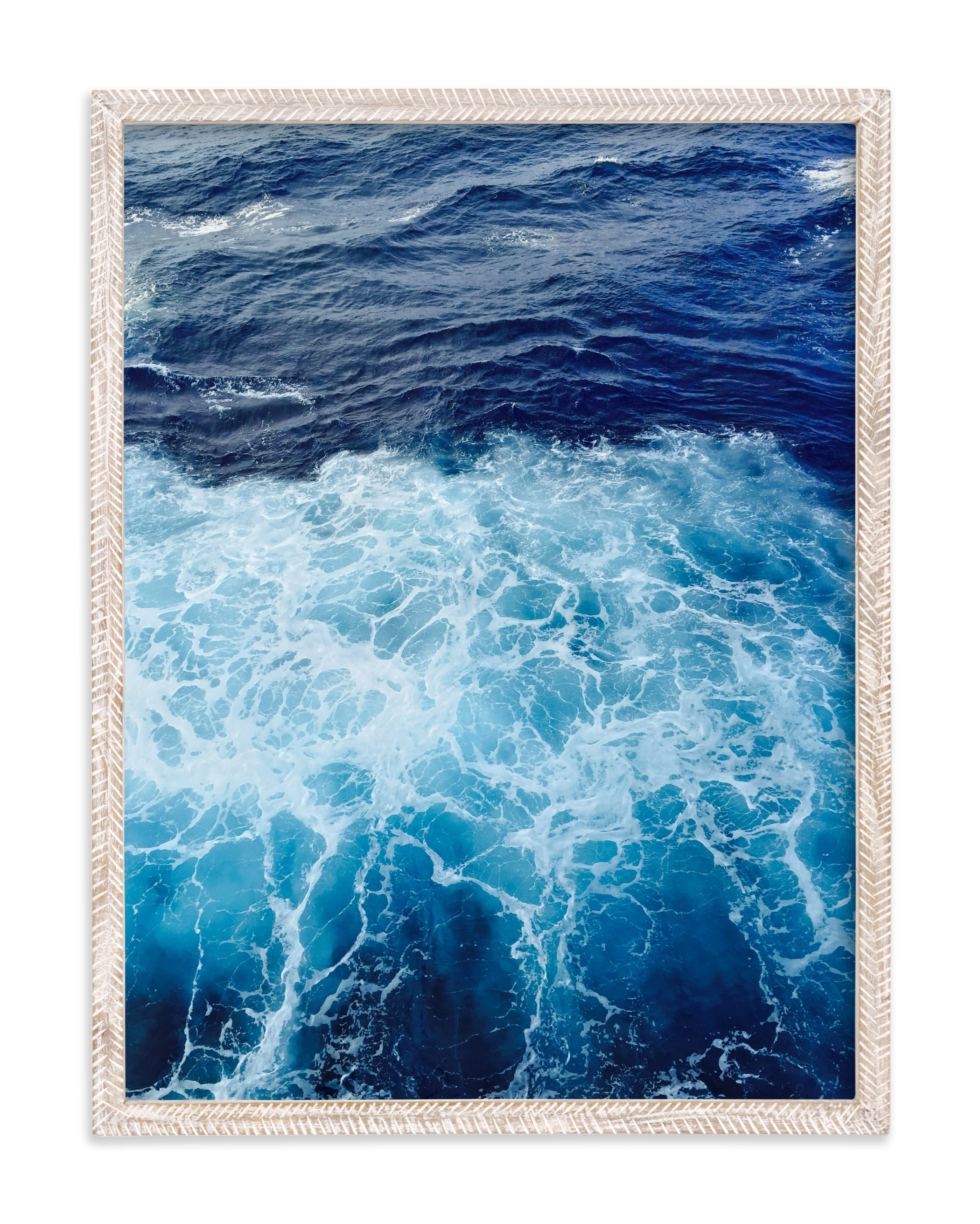 """Wavy Blue"" - Limited Edition Art Print by CaroleeXpressions in beautiful frame options and a variety of sizes."