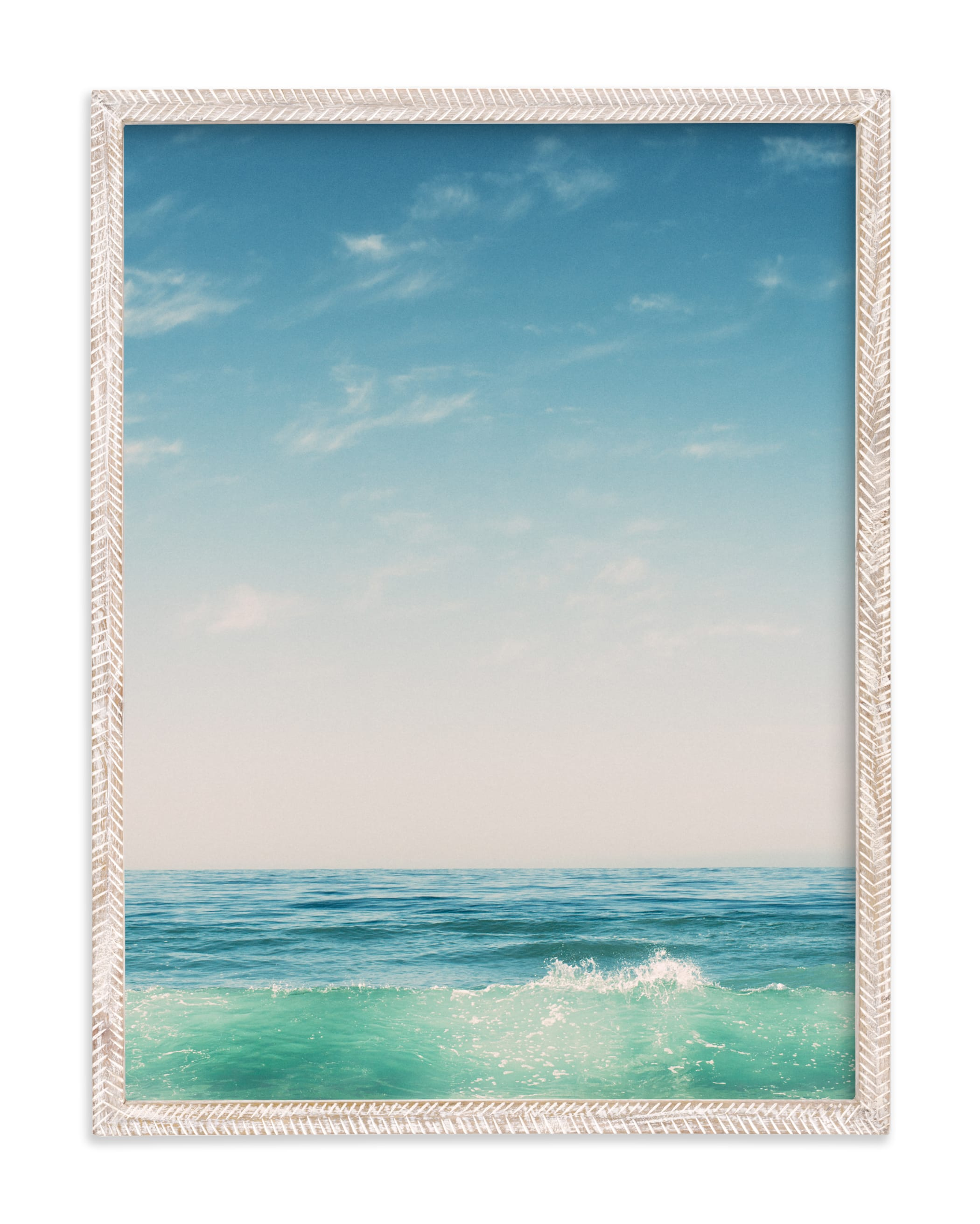"""""""Malibu Surf and Sky II"""" - Limited Edition Art Print by Kamala Nahas in beautiful frame options and a variety of sizes."""
