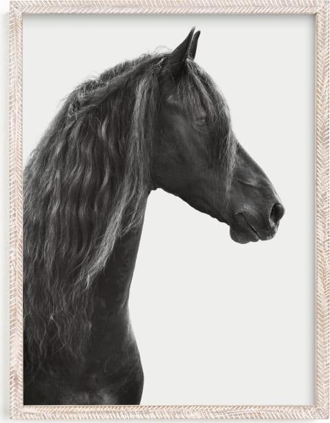 This is a black and white art by Irene Suchocki called Dark Horse.